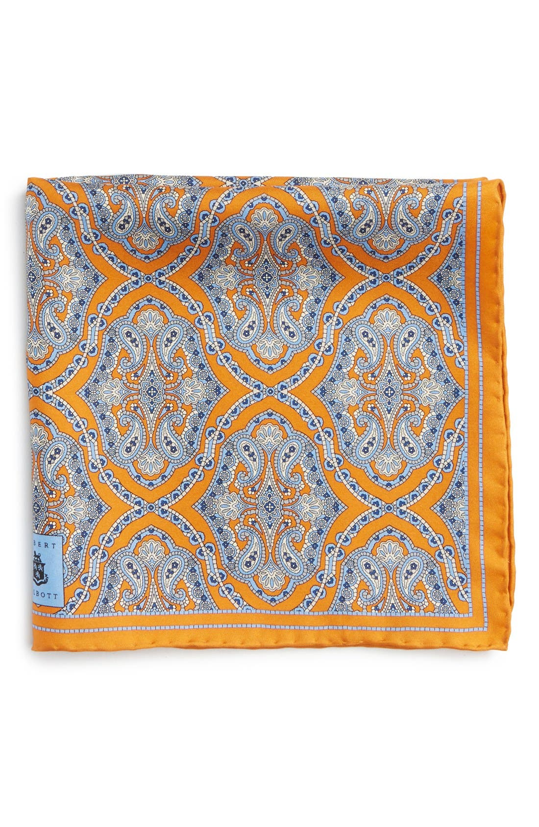 Medallion Silk Pocket Square,                             Main thumbnail 3, color,