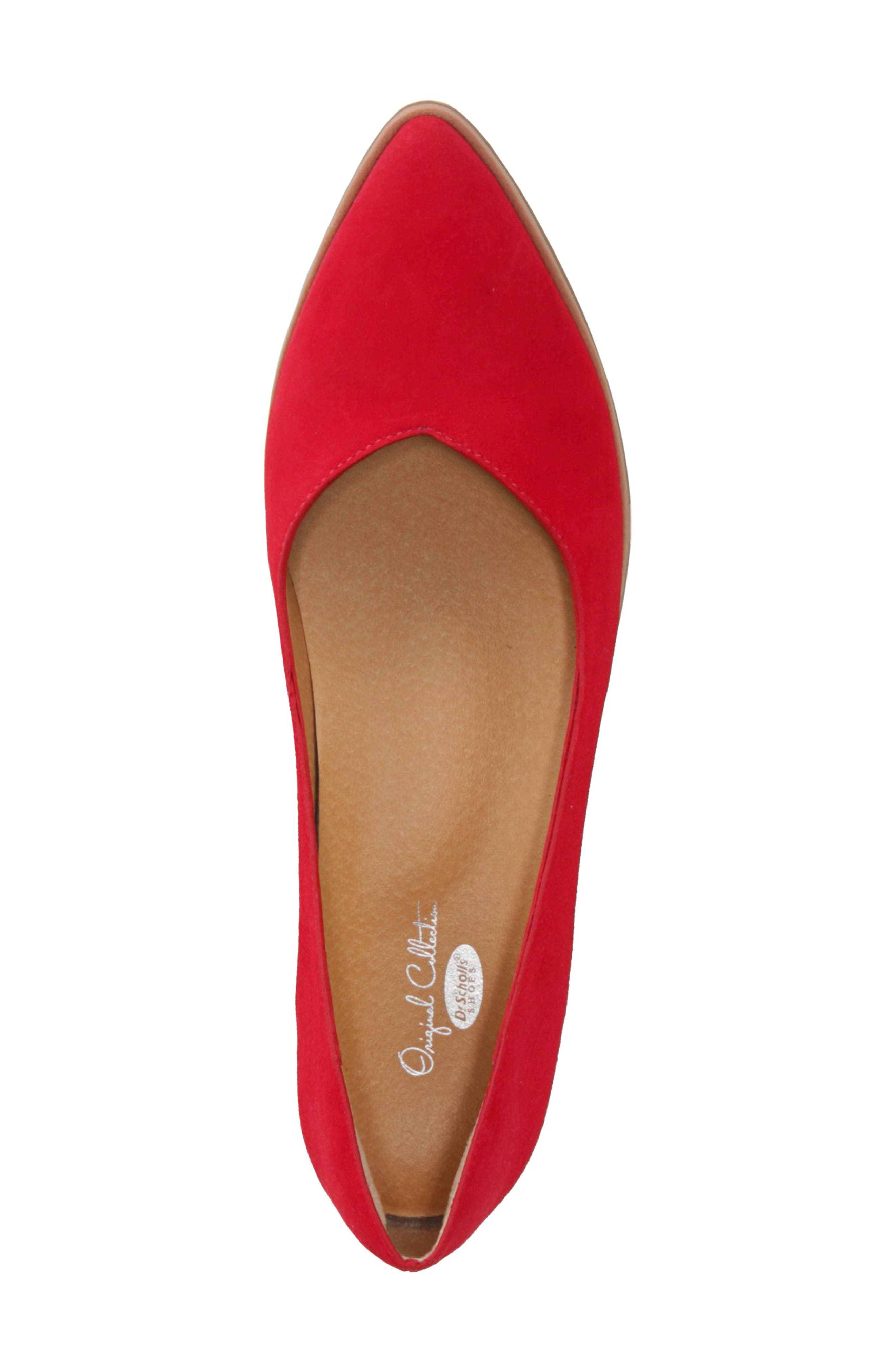 Dr. Scholls Flair Flat,                             Alternate thumbnail 5, color,                             RED LEATHER