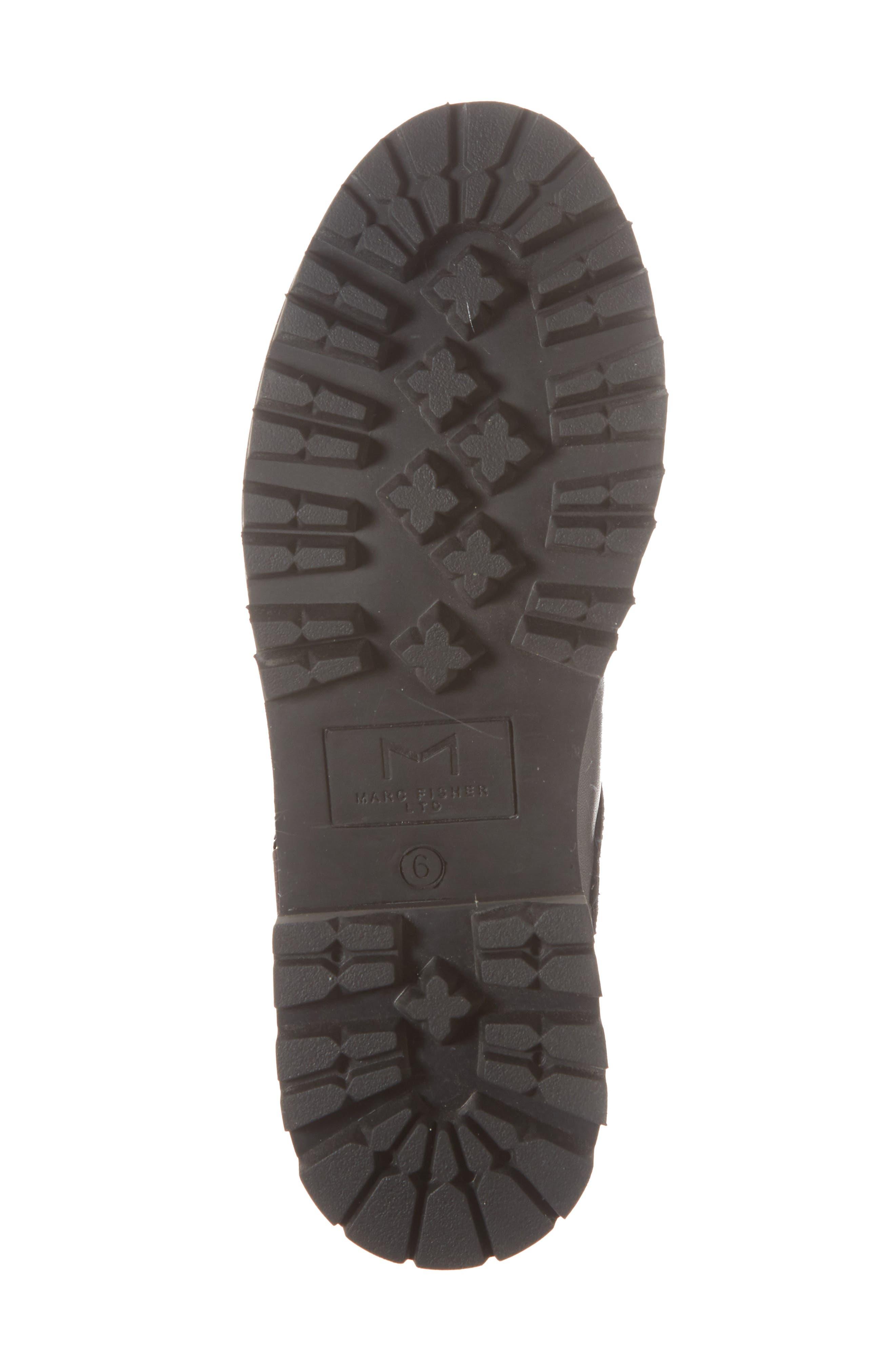 Indre Platform Boot,                             Alternate thumbnail 6, color,                             BLACK LEATHER