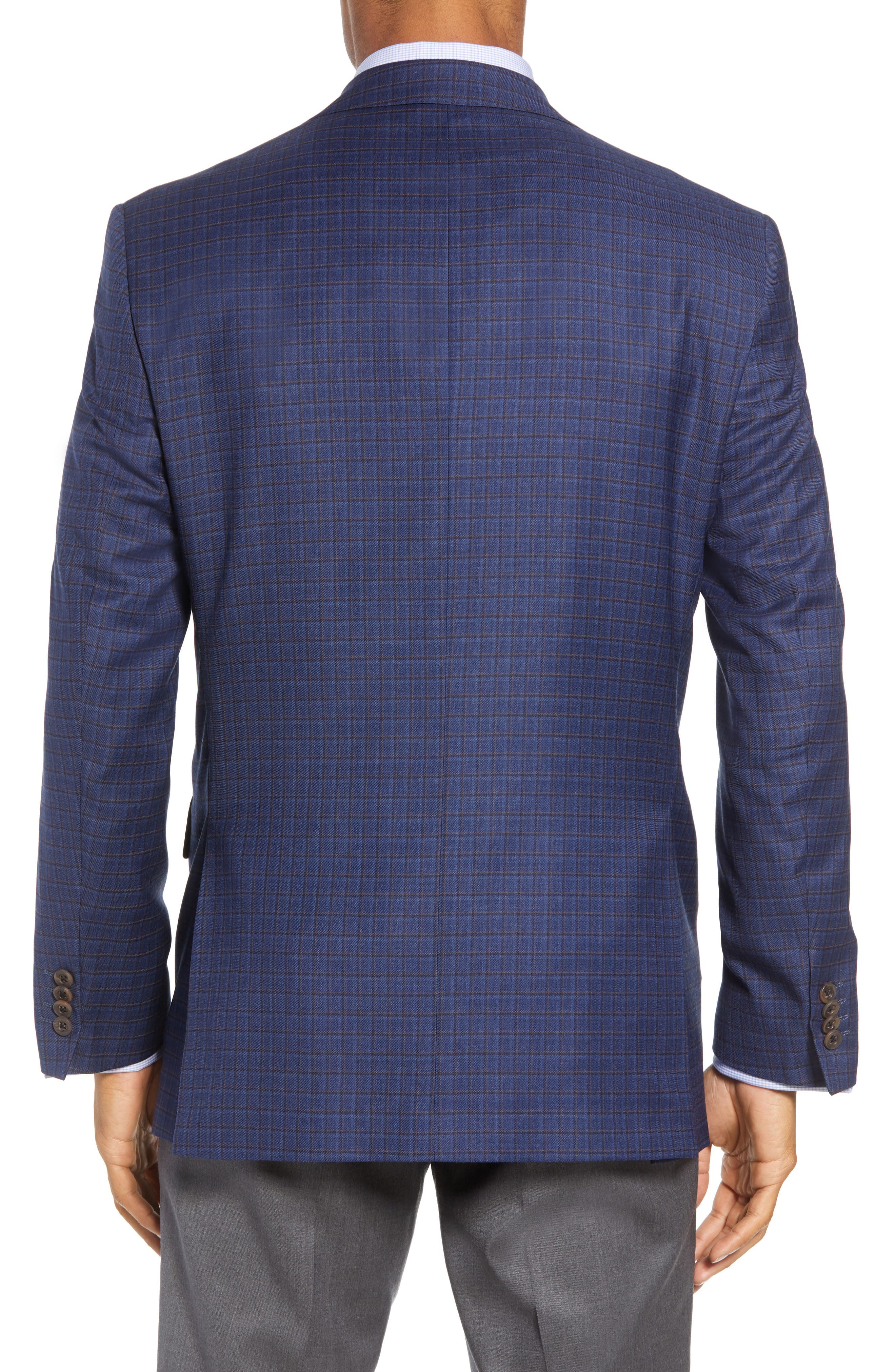 Connor Classic Fit Check Wool Sport Coat,                             Alternate thumbnail 2, color,                             BLUE
