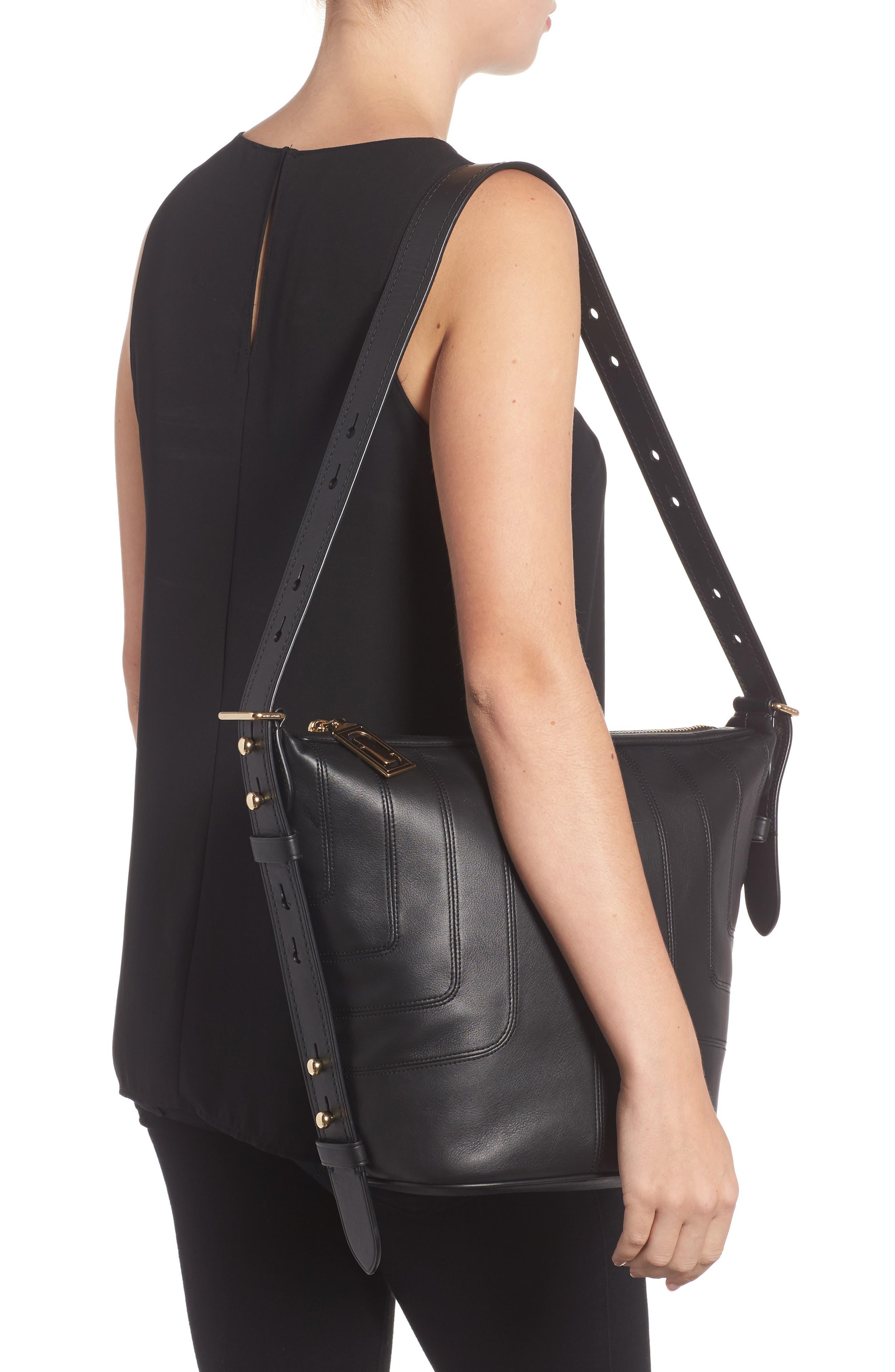 The Sling Mod Leather Hobo/Crossbody/Sling Bag,                             Alternate thumbnail 2, color,                             001