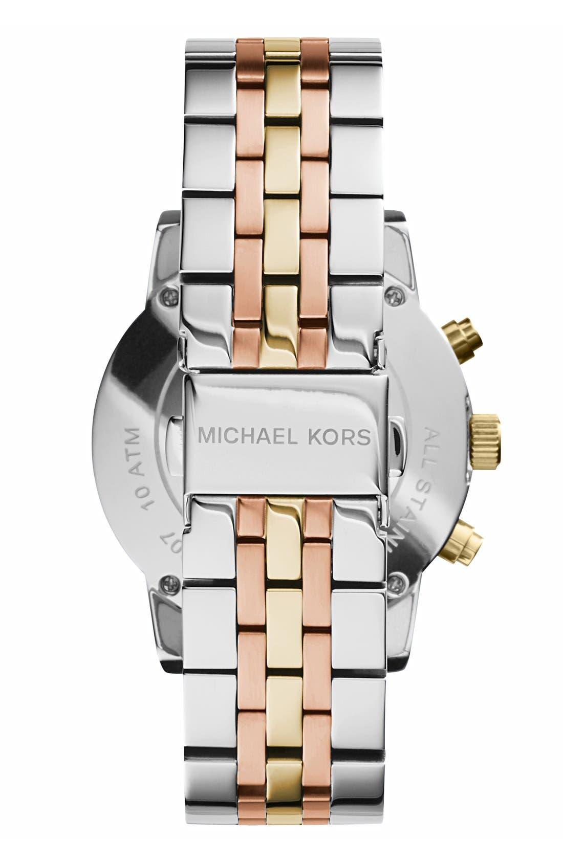 Michael Kors 'Ritz' Chronograph Bracelet Watch, 36mm,                             Alternate thumbnail 4, color,                             040