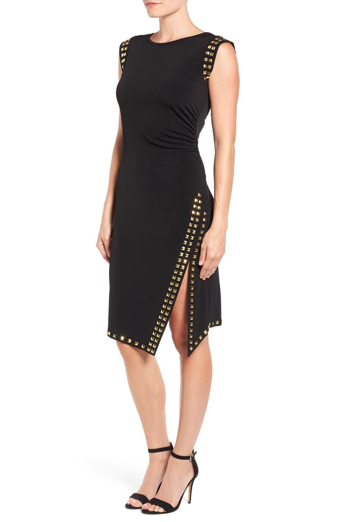 Studded Sheath Dress,                             Alternate thumbnail 2, color,