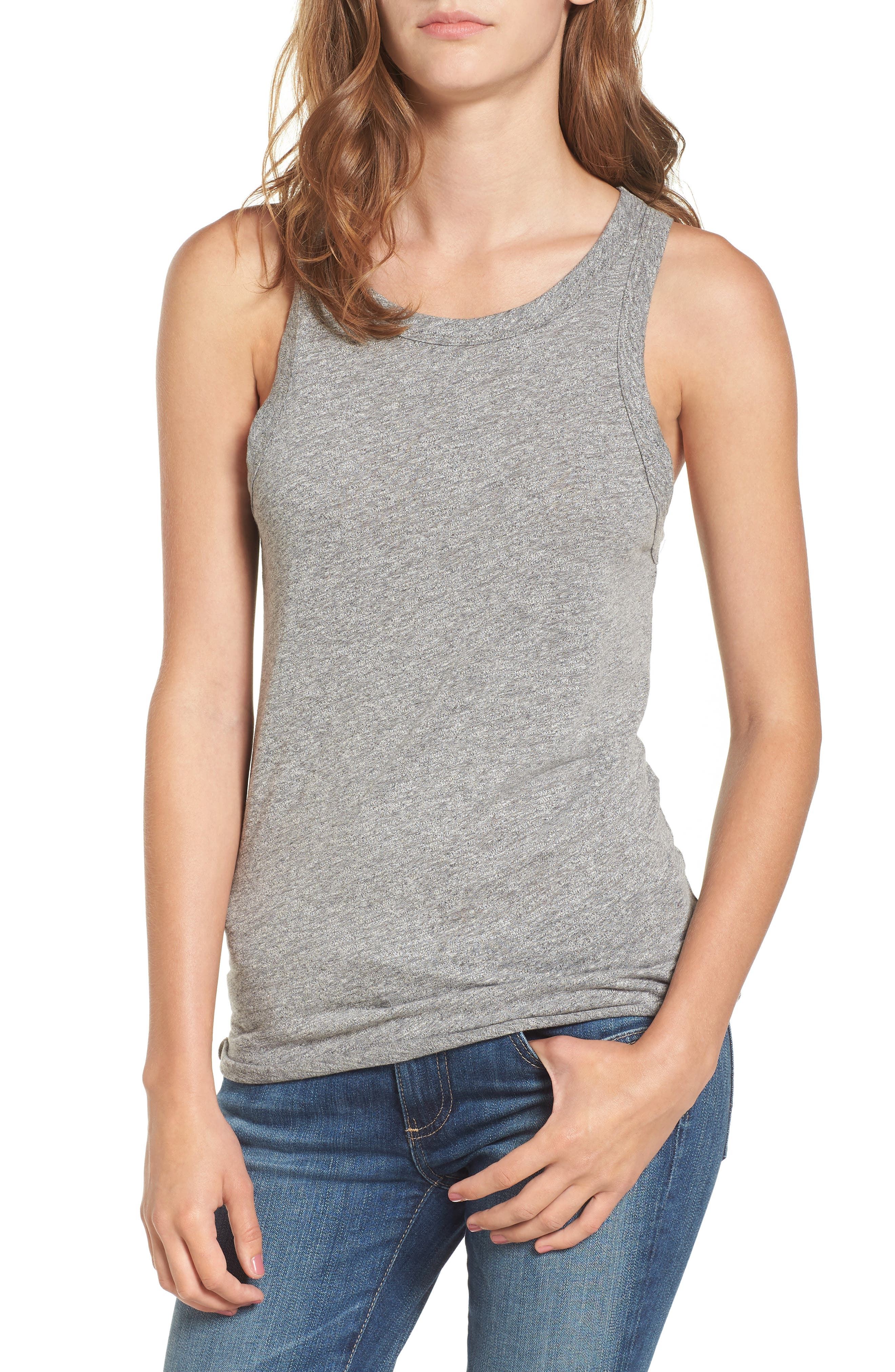 Lexi Tank,                         Main,                         color, SPECKLED HEATHER GREY