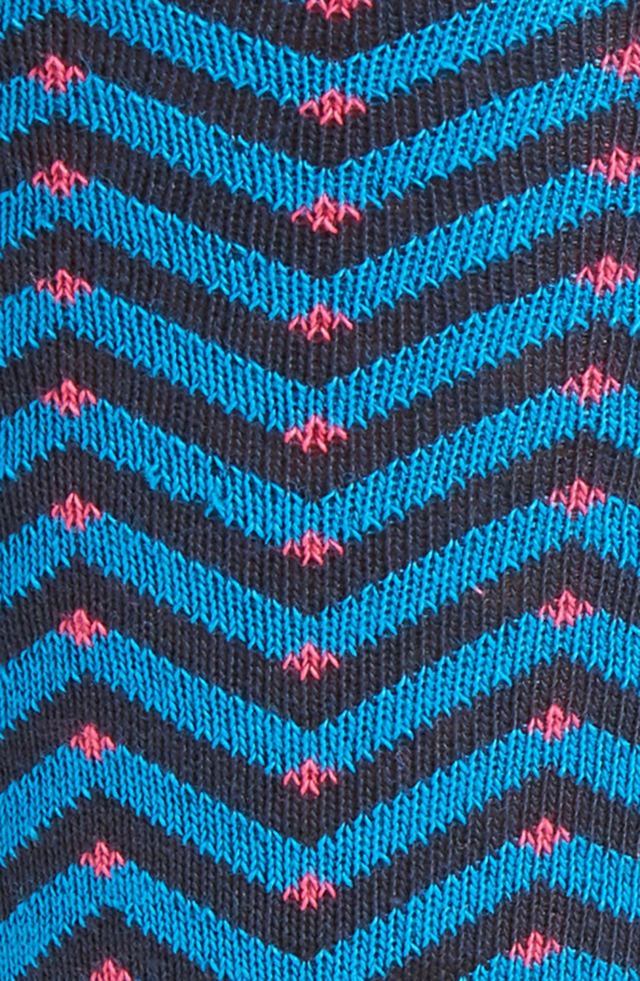 Chevron Stripe Socks,                             Alternate thumbnail 2, color,                             421