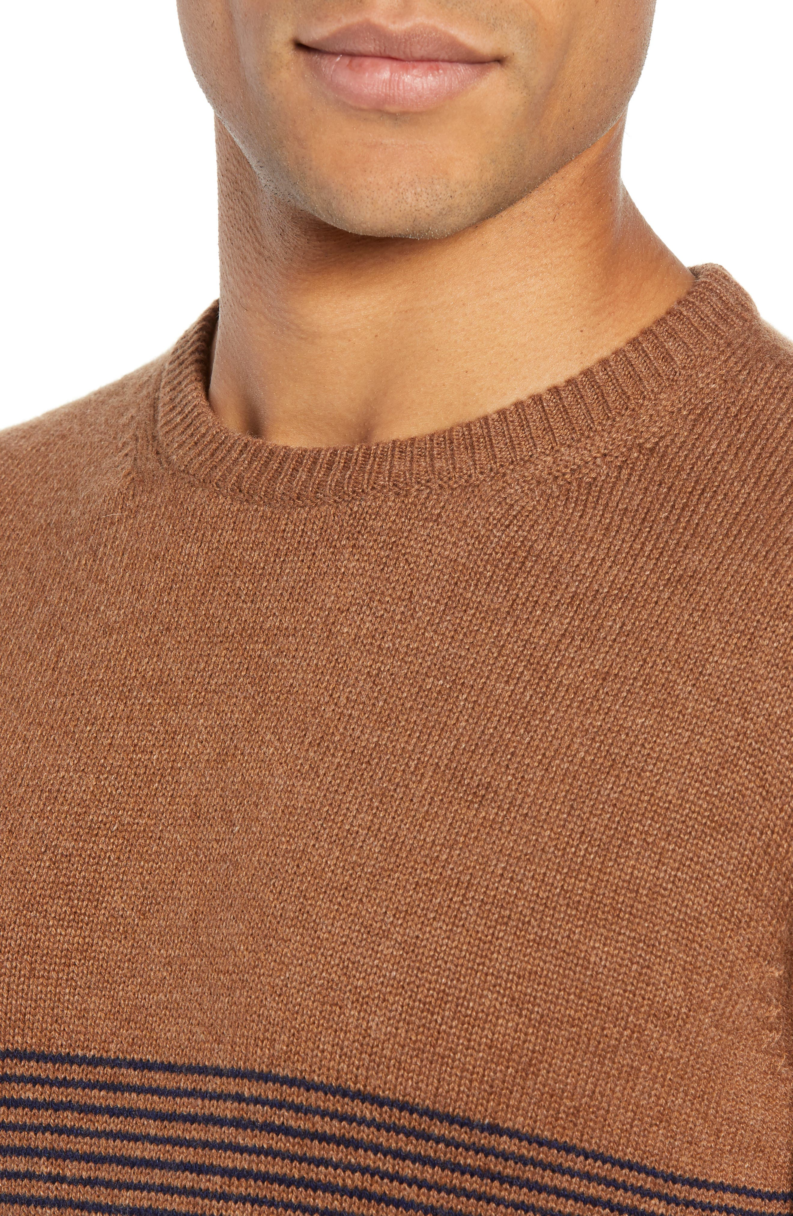 Trim Fit Cashmere Sweater,                             Alternate thumbnail 4, color,                             GREY