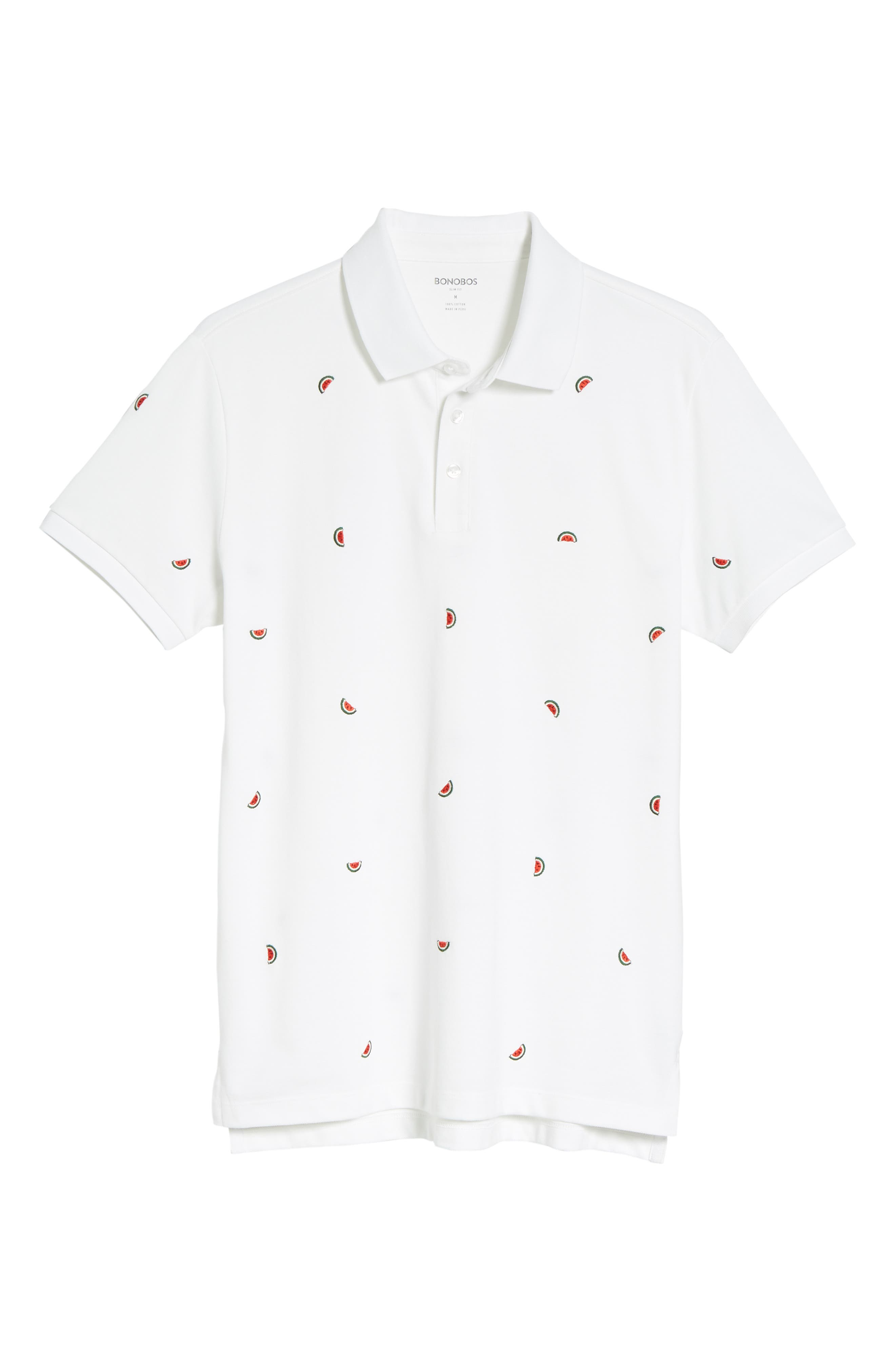 Slim Fit Embroidered Piqué Polo,                             Alternate thumbnail 12, color,