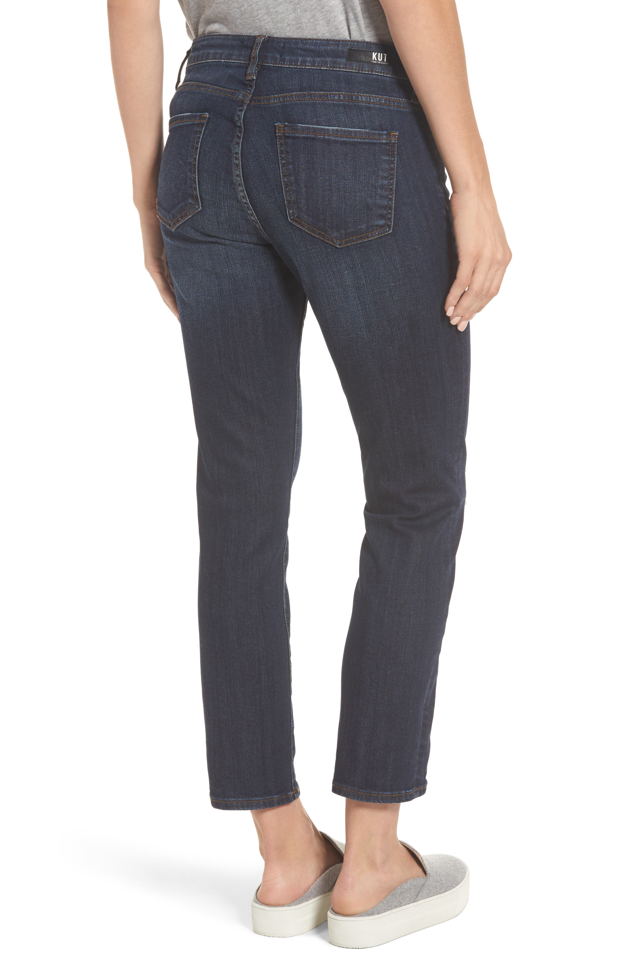 KUT FROM THE KLOTH,                             Reese Frayed Seam Ankle Straight Jeans,                             Alternate thumbnail 2, color,                             411