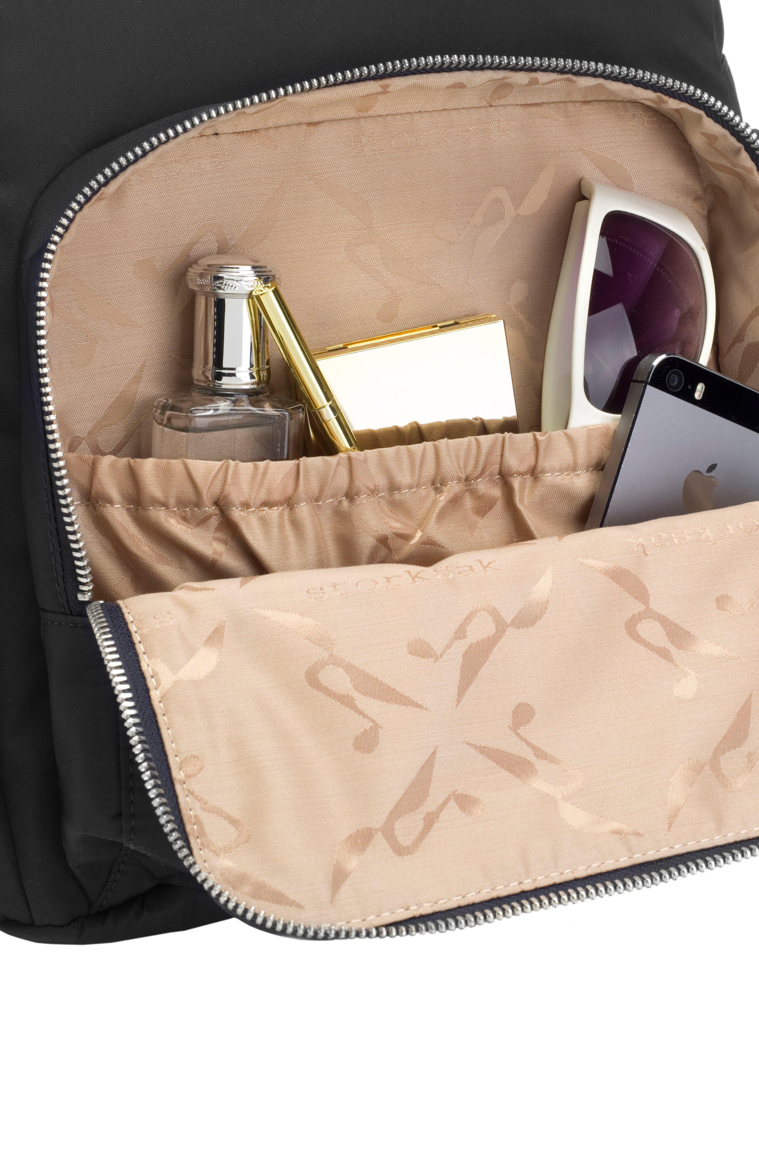 Hero Water Resistant Nylon Backpack Diaper Bag,                             Alternate thumbnail 15, color,                             BLACK