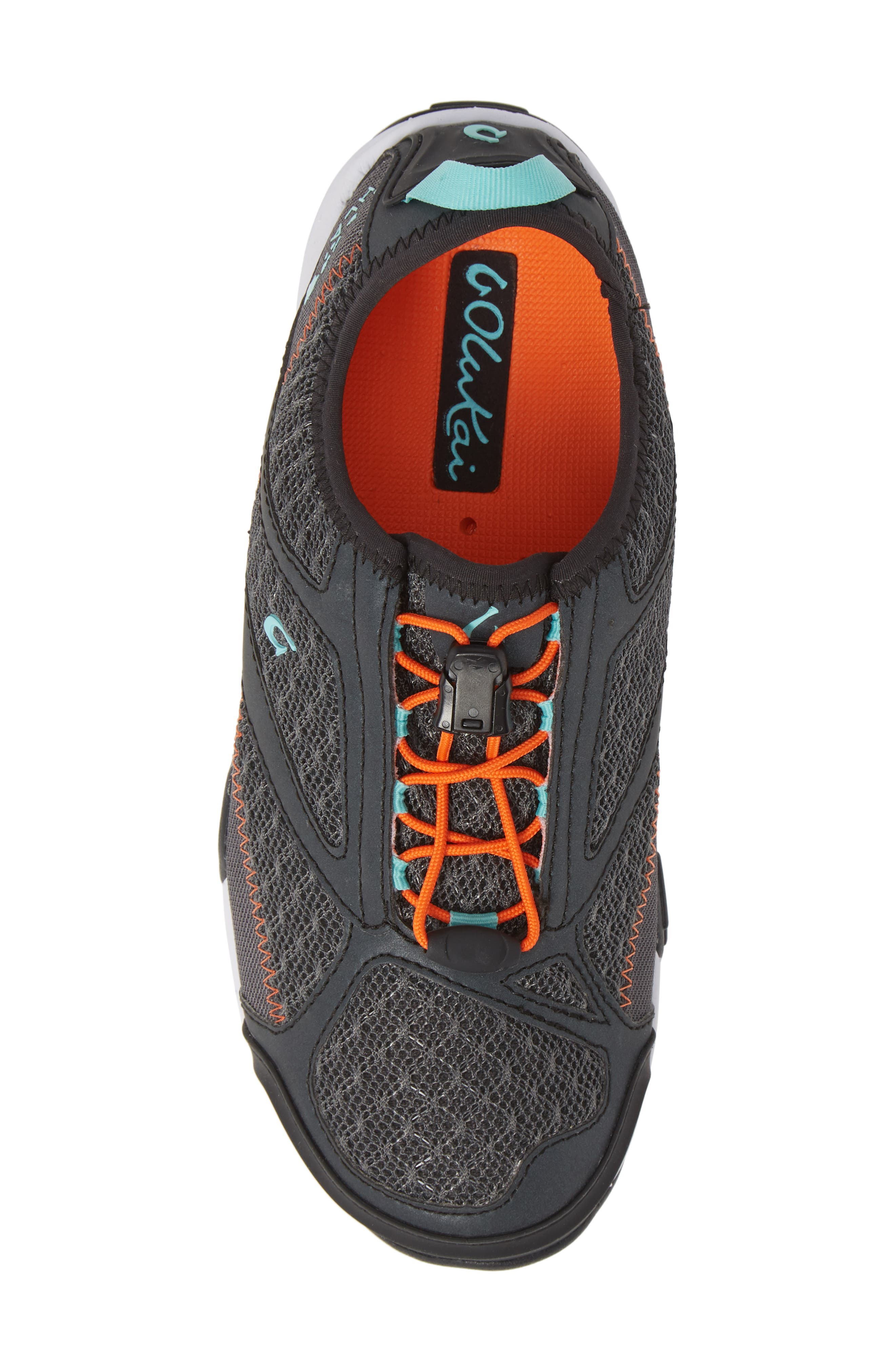 'Eleu' Water-Resistant Sneaker,                             Alternate thumbnail 5, color,                             DARK SHADOW/ LAVA ROCK FABRIC