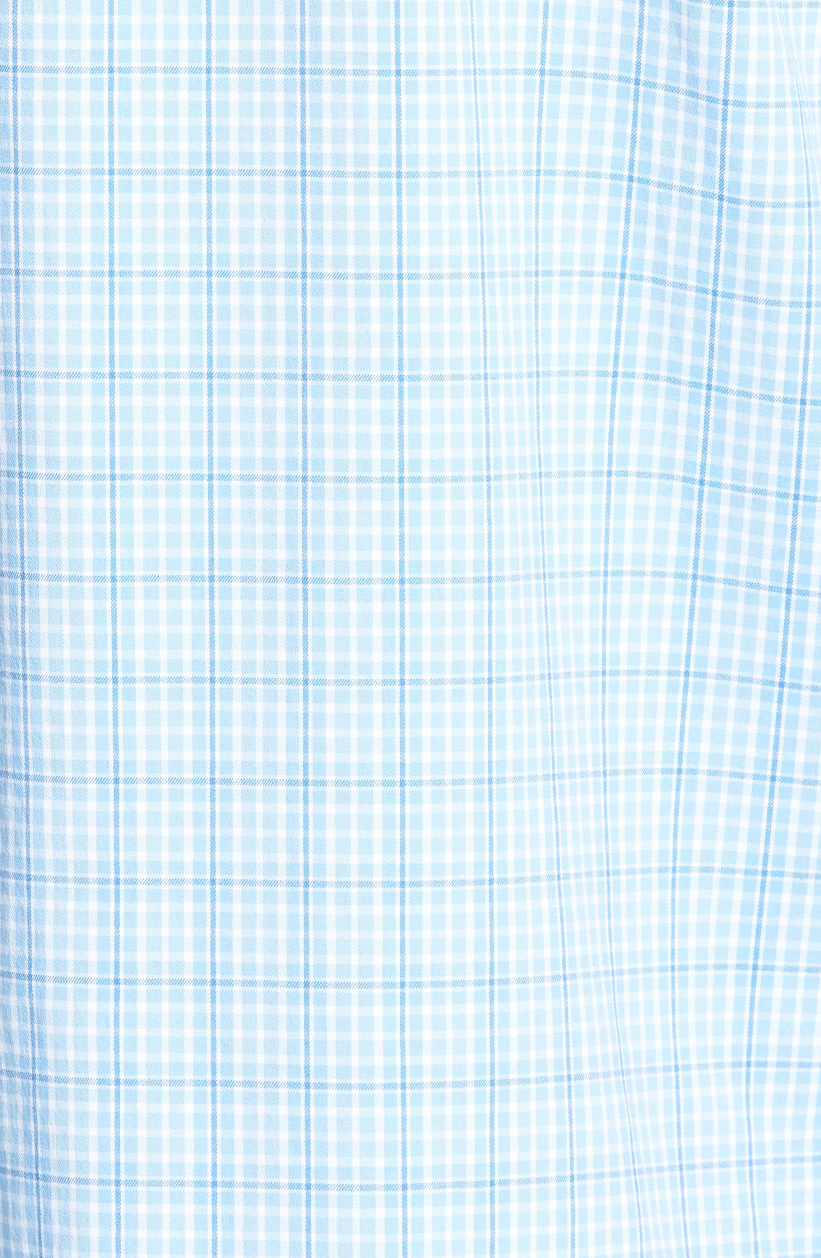 Nautical Mile Regular Fit Plaid Performance Sport Shirt,                             Alternate thumbnail 9, color,