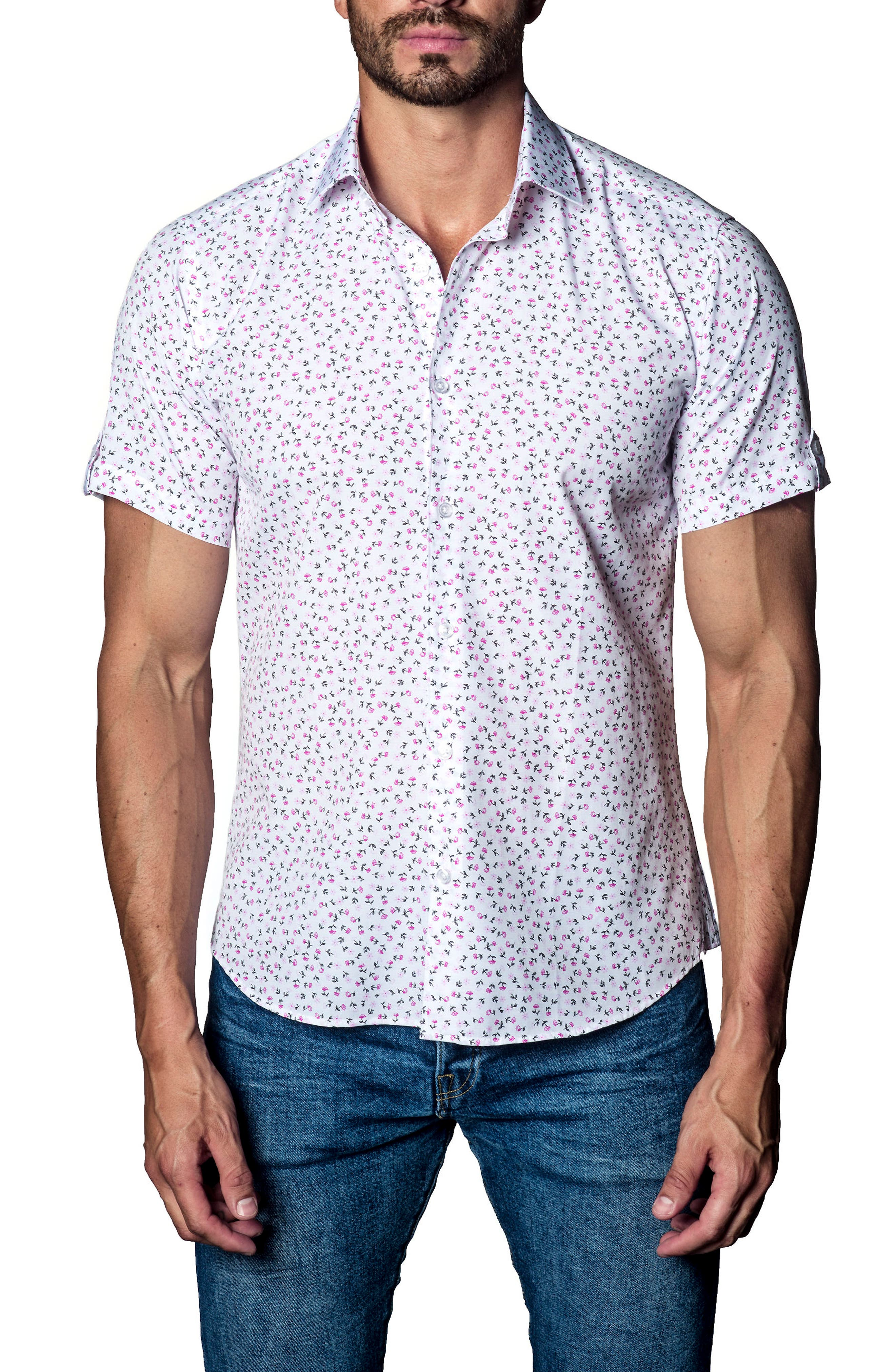 Print Sport Shirt,                         Main,                         color, 160