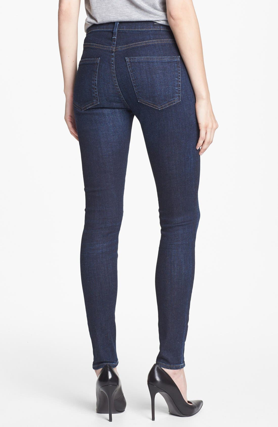 'Rocket' High Rise Skinny Jeans,                             Alternate thumbnail 3, color,                             420