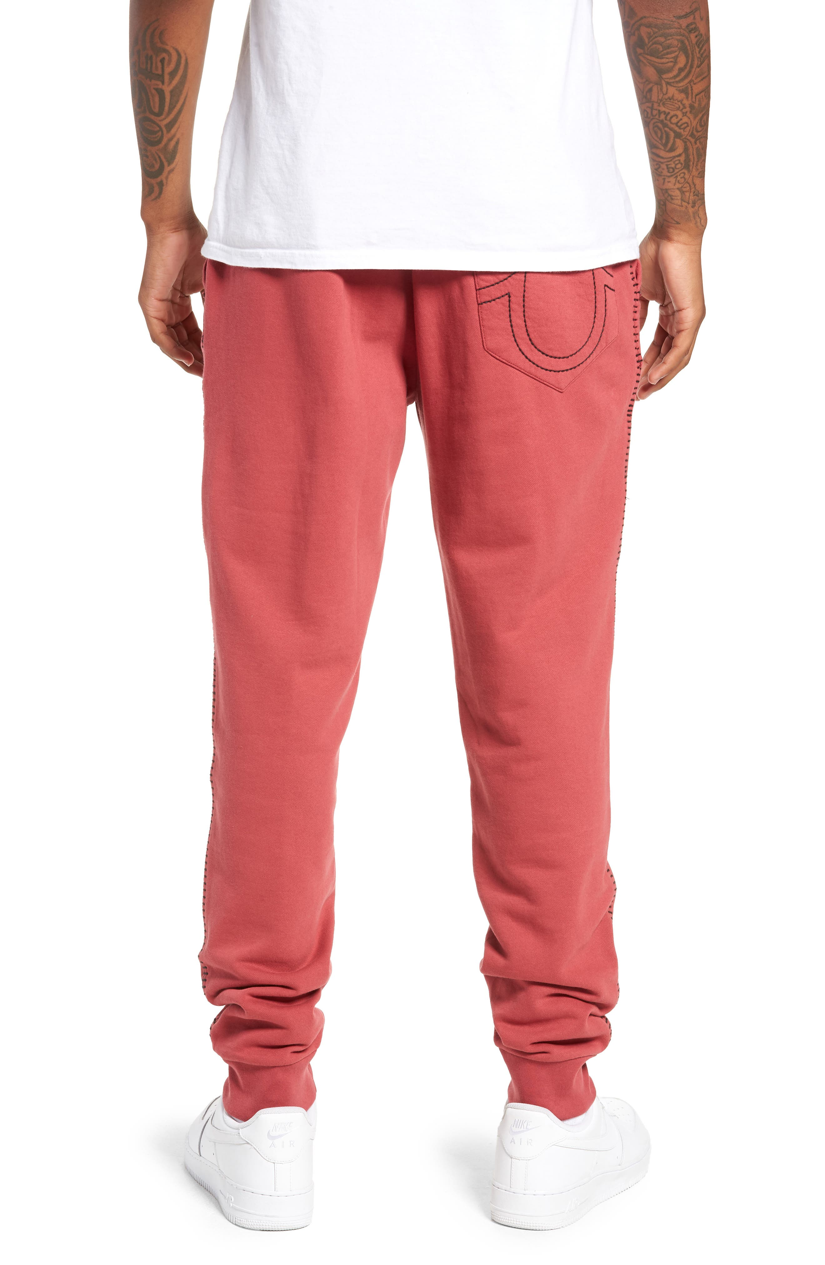 Metallic Buddha Sweatpants,                             Alternate thumbnail 2, color,                             GOTH RED