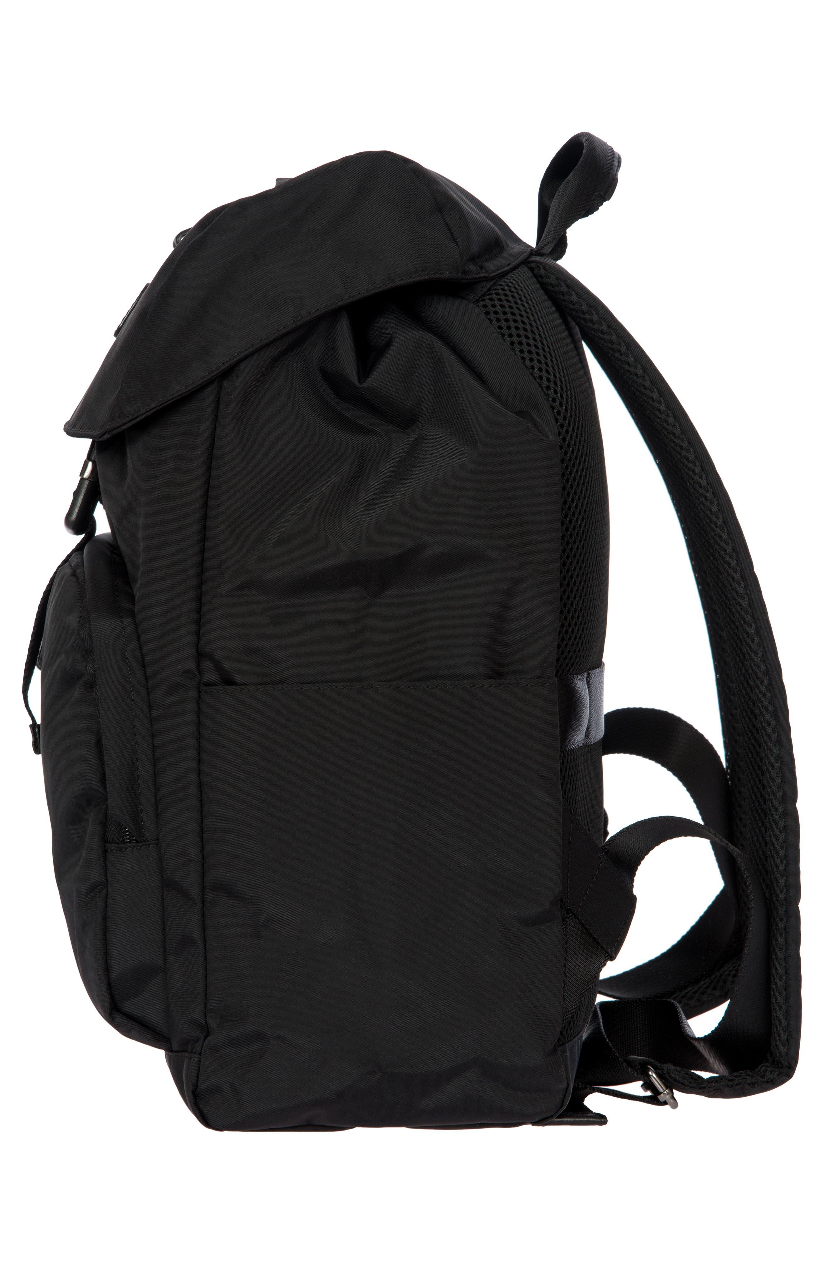 X-Bag Travel Excursion Backpack,                             Alternate thumbnail 4, color,                             BLACK/ BLACK