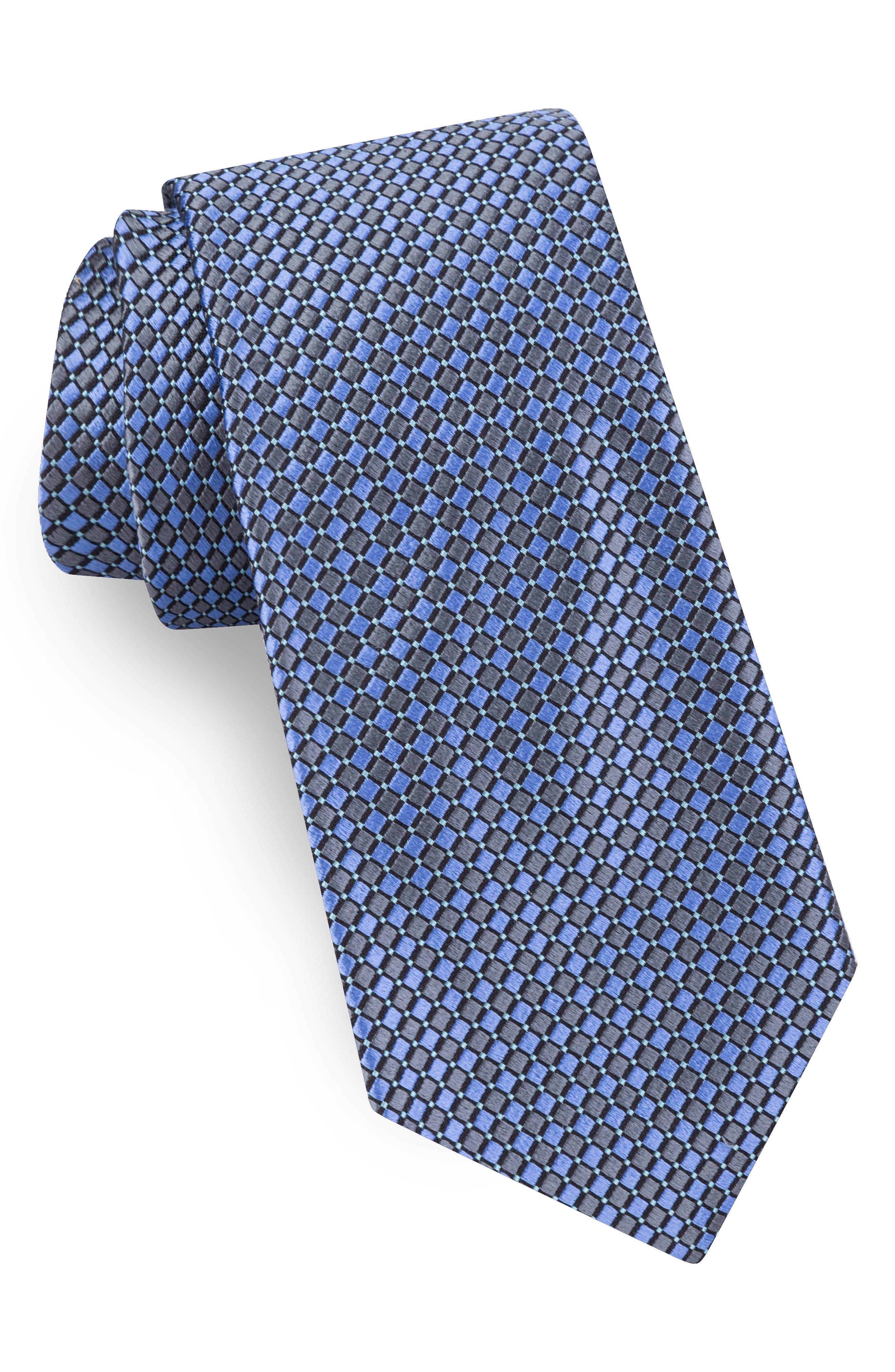 Geometric Silk Tie,                             Main thumbnail 1, color,                             CHAR
