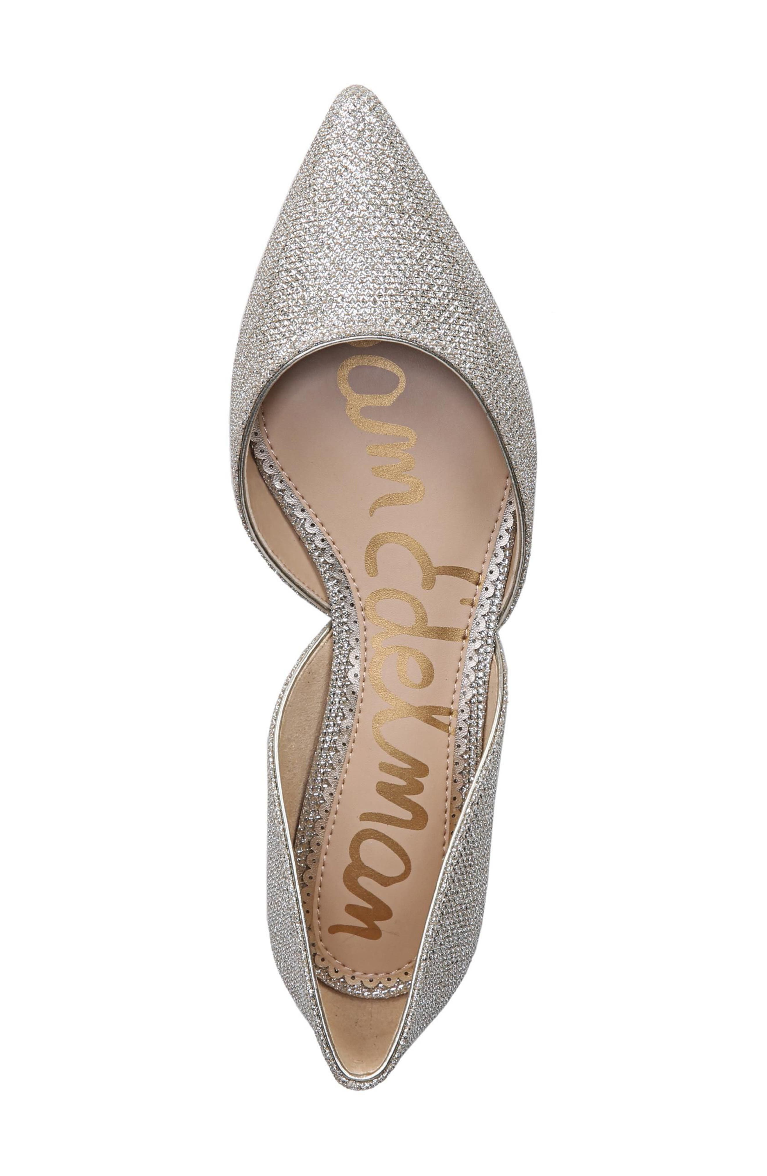 Rodney Pointy Toe d'Orsay Flat,                             Alternate thumbnail 5, color,                             JUTE GLAM FABRIC