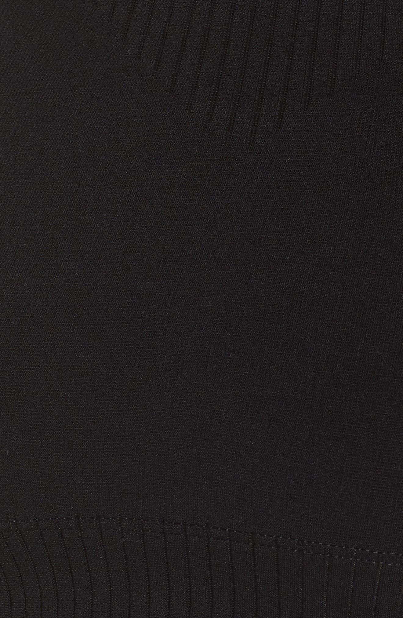 Warpknit Crop Top,                             Alternate thumbnail 6, color,                             BLACK