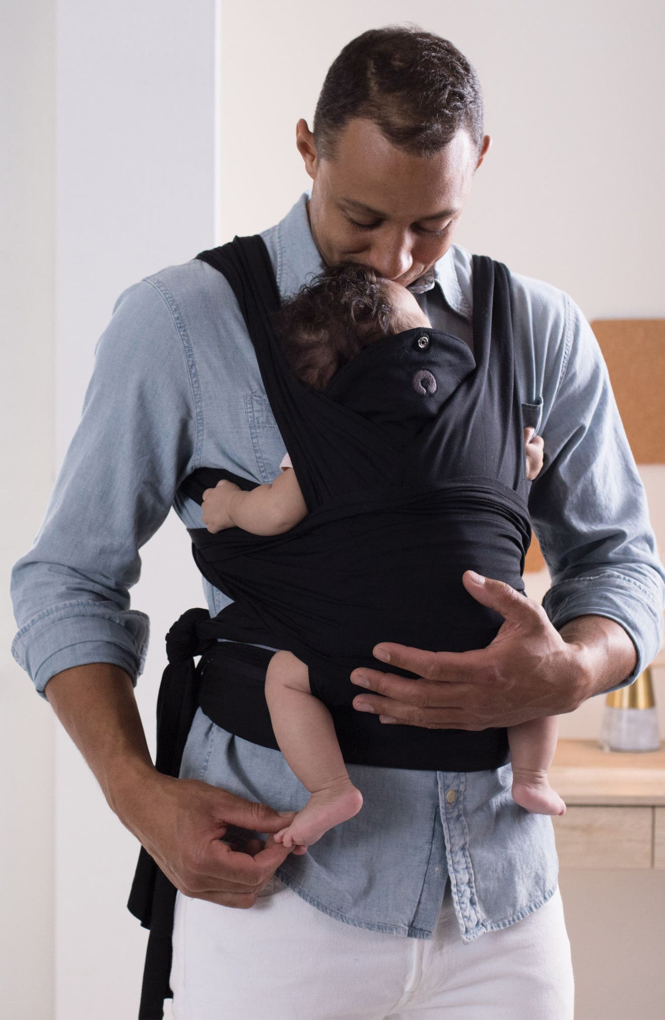 ComfyFit Baby Carrier,                             Alternate thumbnail 6, color,                             BLACK