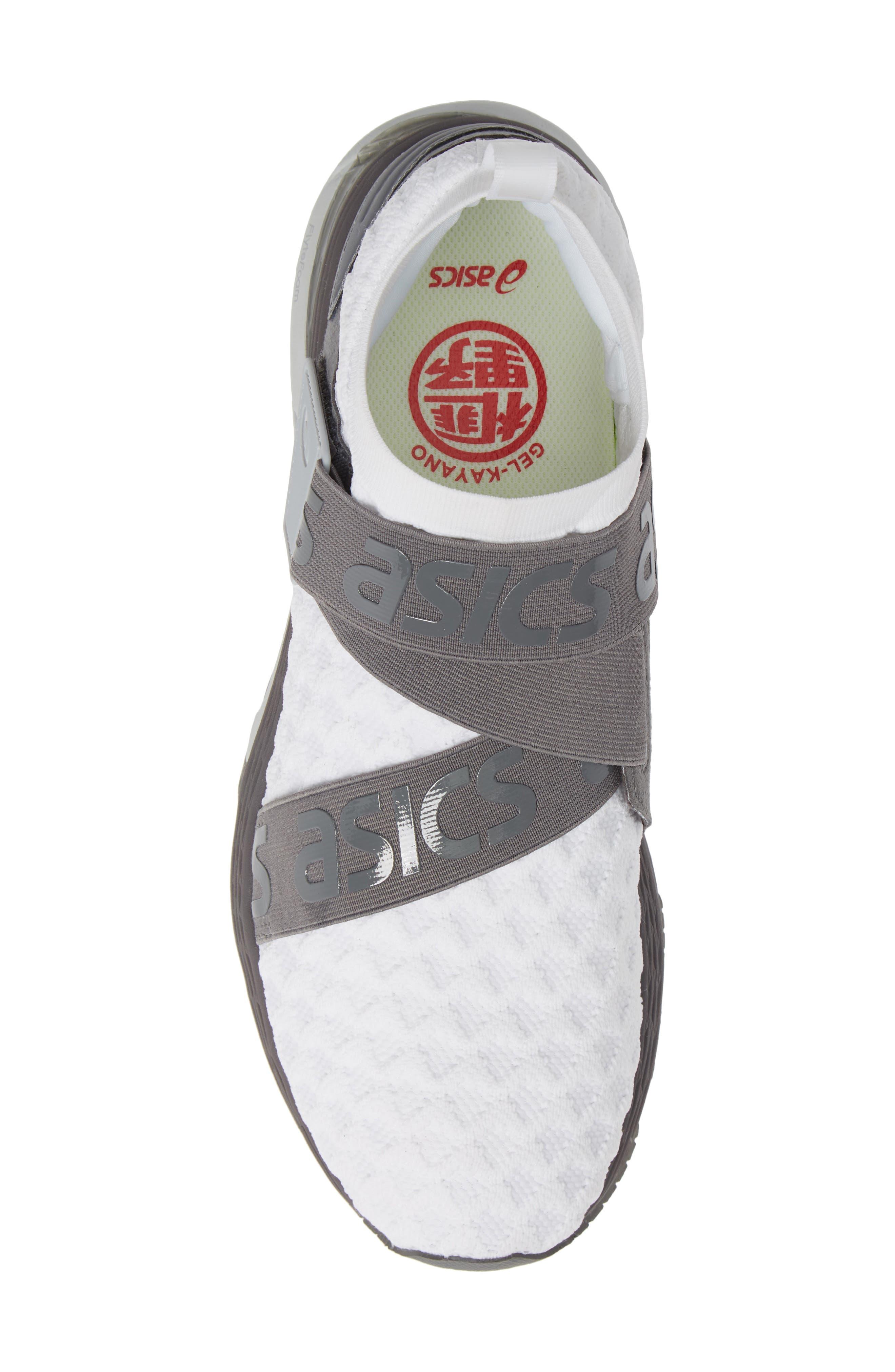 ASICS<SUP>®</SUP>,                             GEL Kayano Obi Running Shoe,                             Alternate thumbnail 5, color,                             WHITE/ CARBON