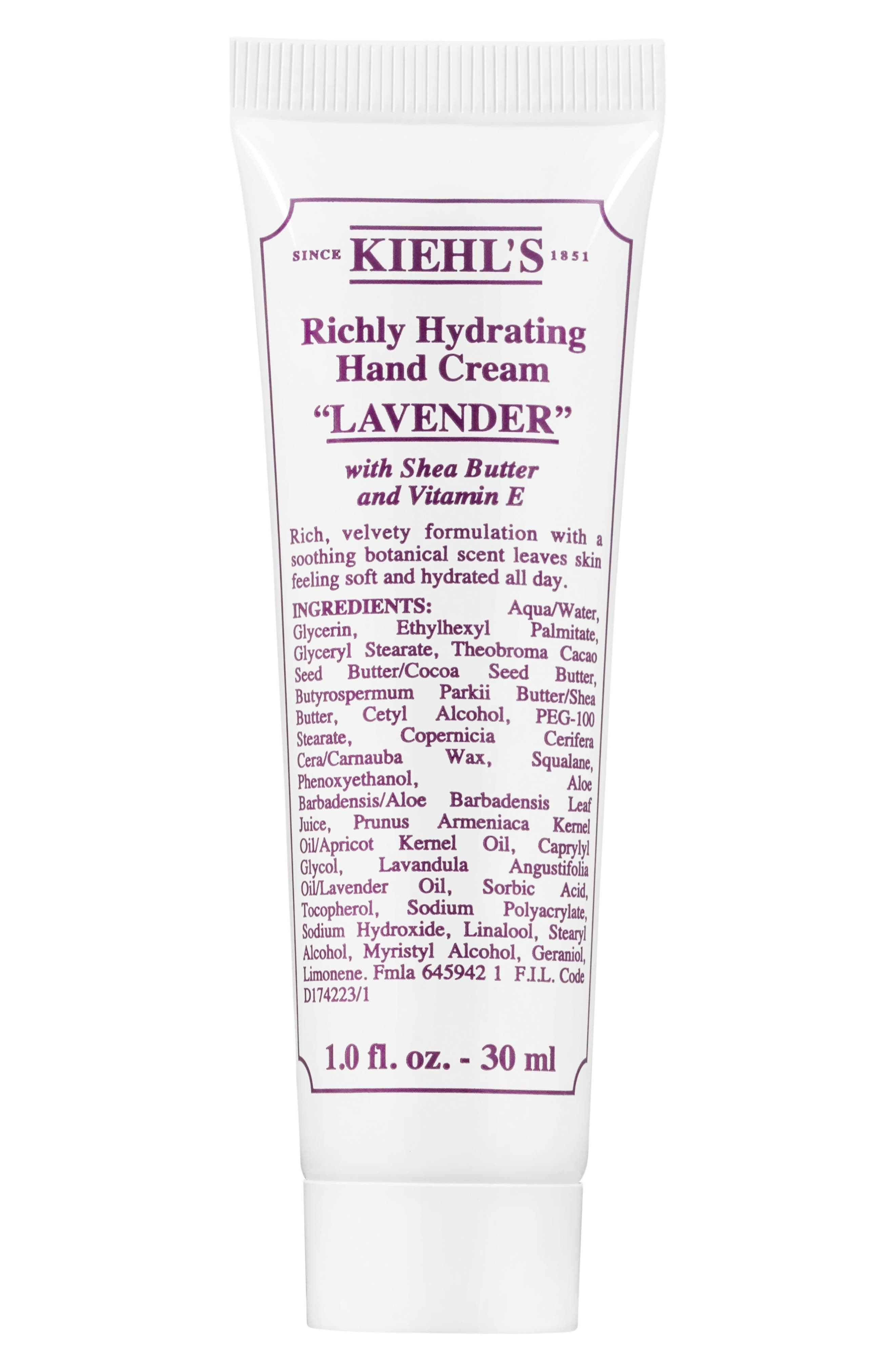 Lavender Richly Hydrating Scented Hand Cream,                             Alternate thumbnail 2, color,                             NO COLOR