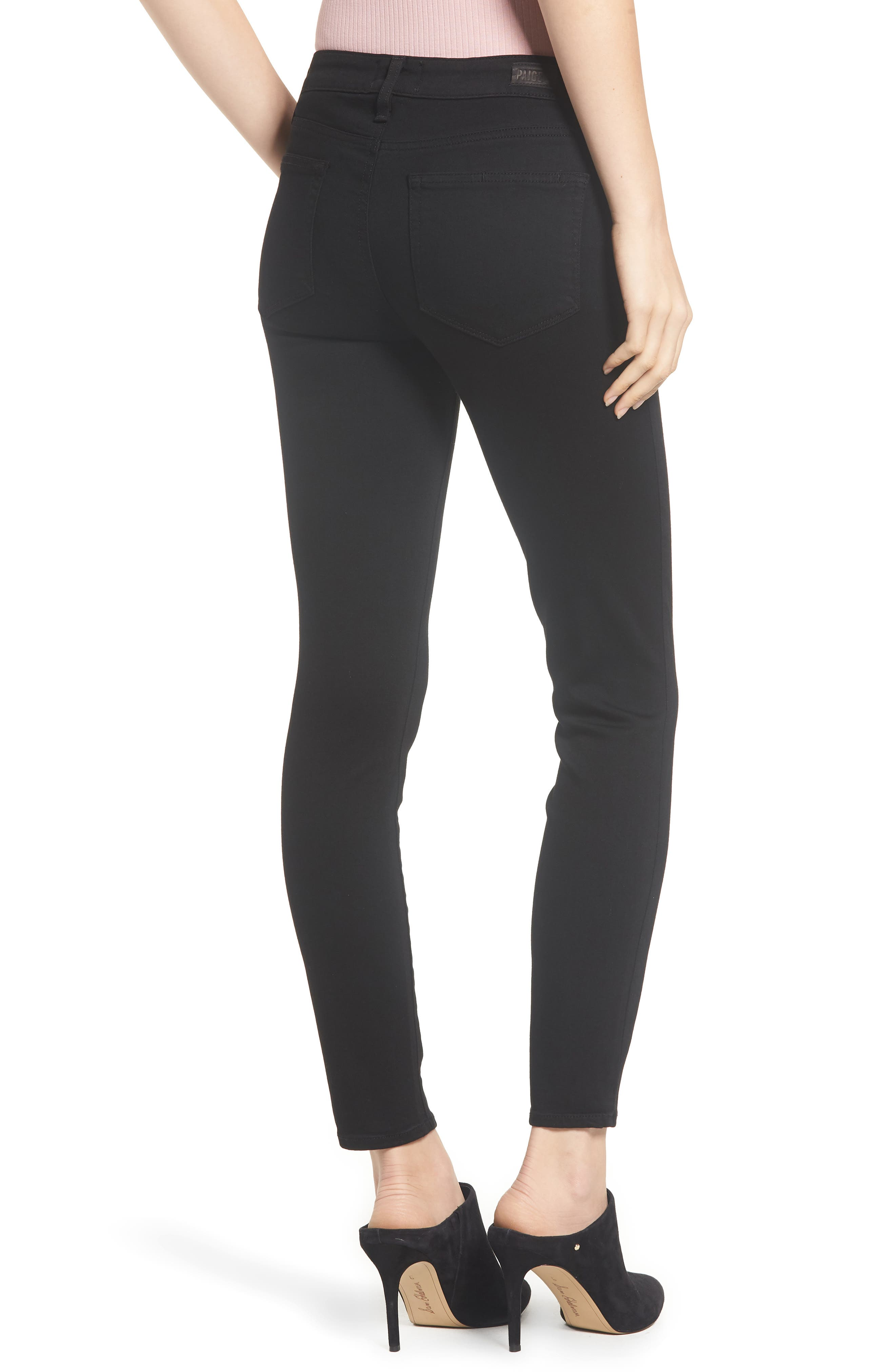 Transcend - Verdugo Ankle Ultra Skinny Jeans,                             Alternate thumbnail 3, color,                             BLACK SHADOW