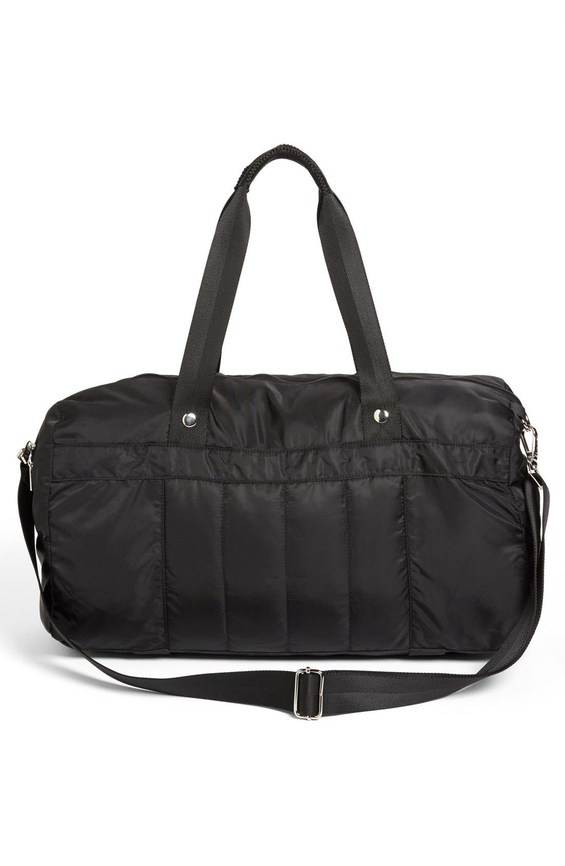 Quilted Gear Duffel Bag,                             Alternate thumbnail 3, color,                             001