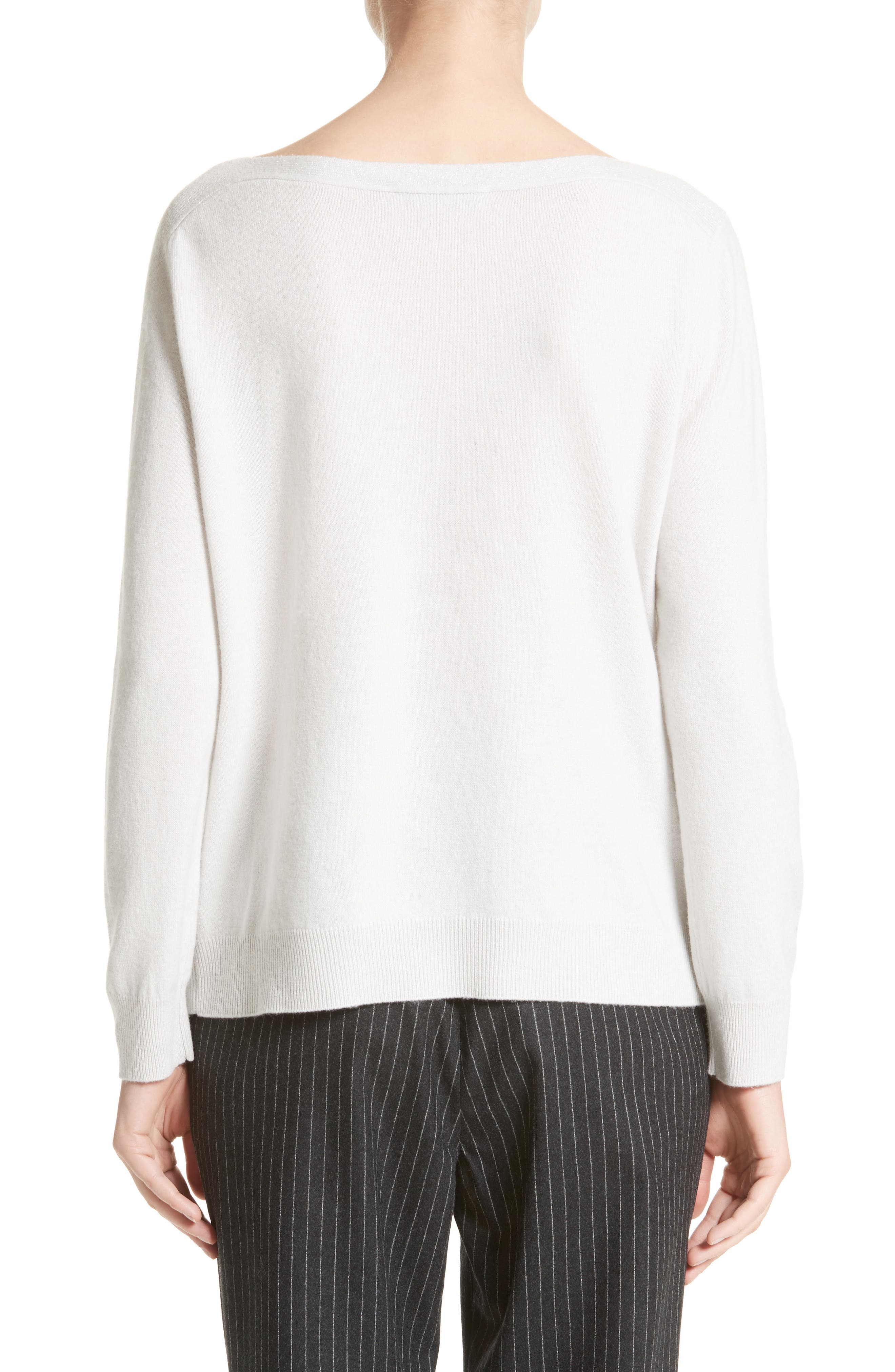 Wool, Silk & Cashmere Sweater,                             Alternate thumbnail 2, color,