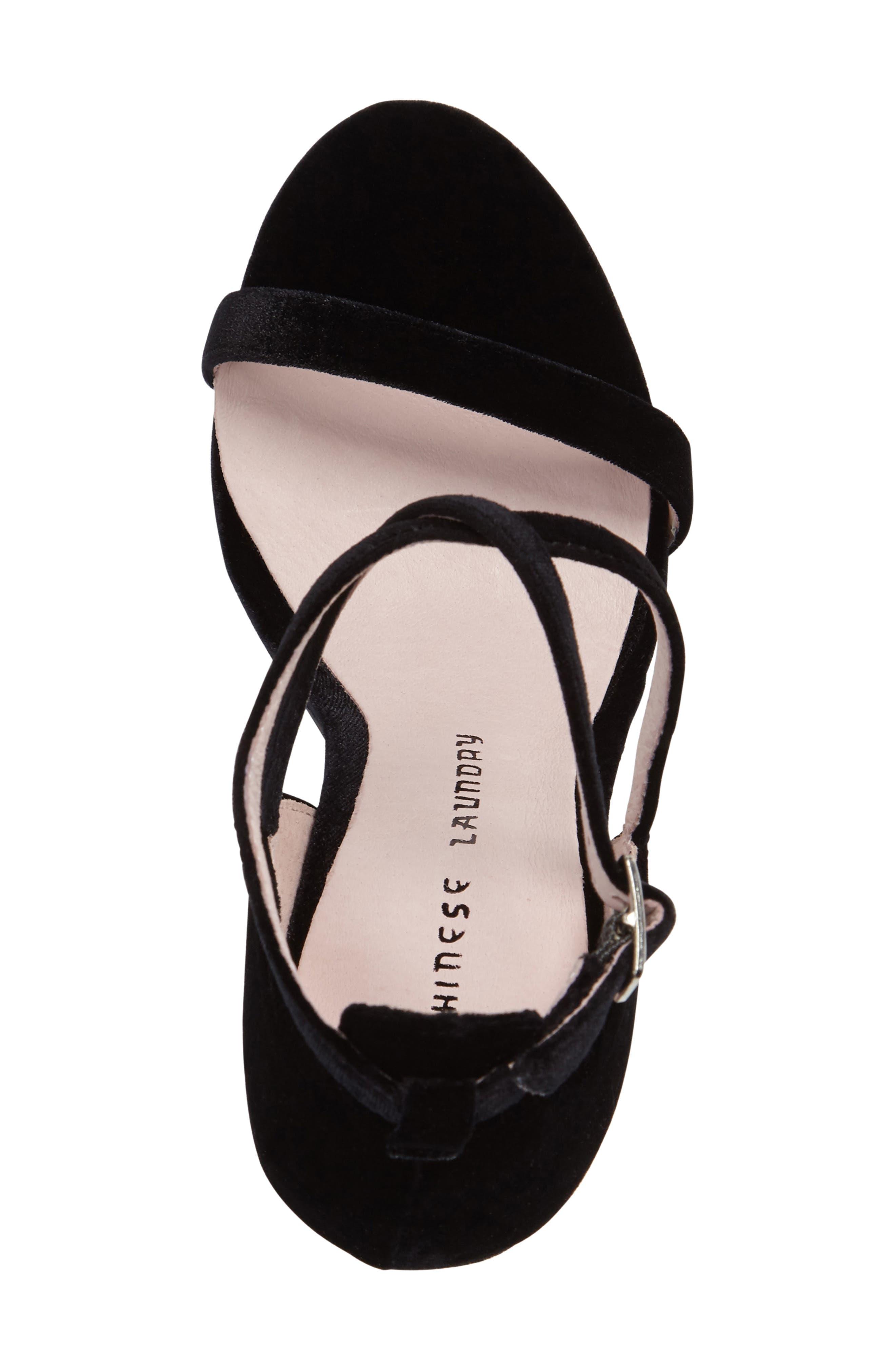 Lavelle Ankle Strap Sandal,                             Alternate thumbnail 4, color,                             001