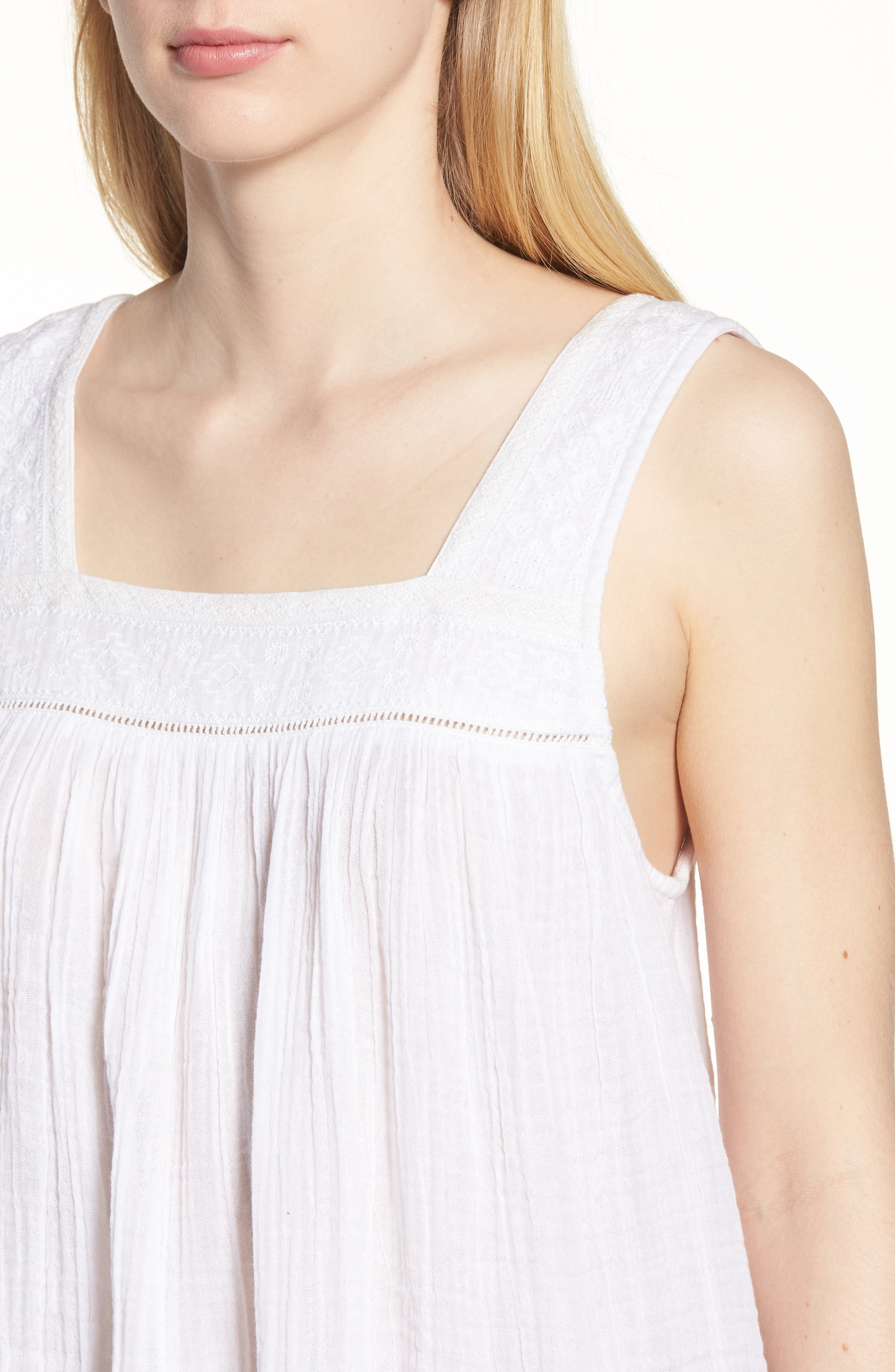 Embroidered Neck Swing Tank,                             Alternate thumbnail 16, color,