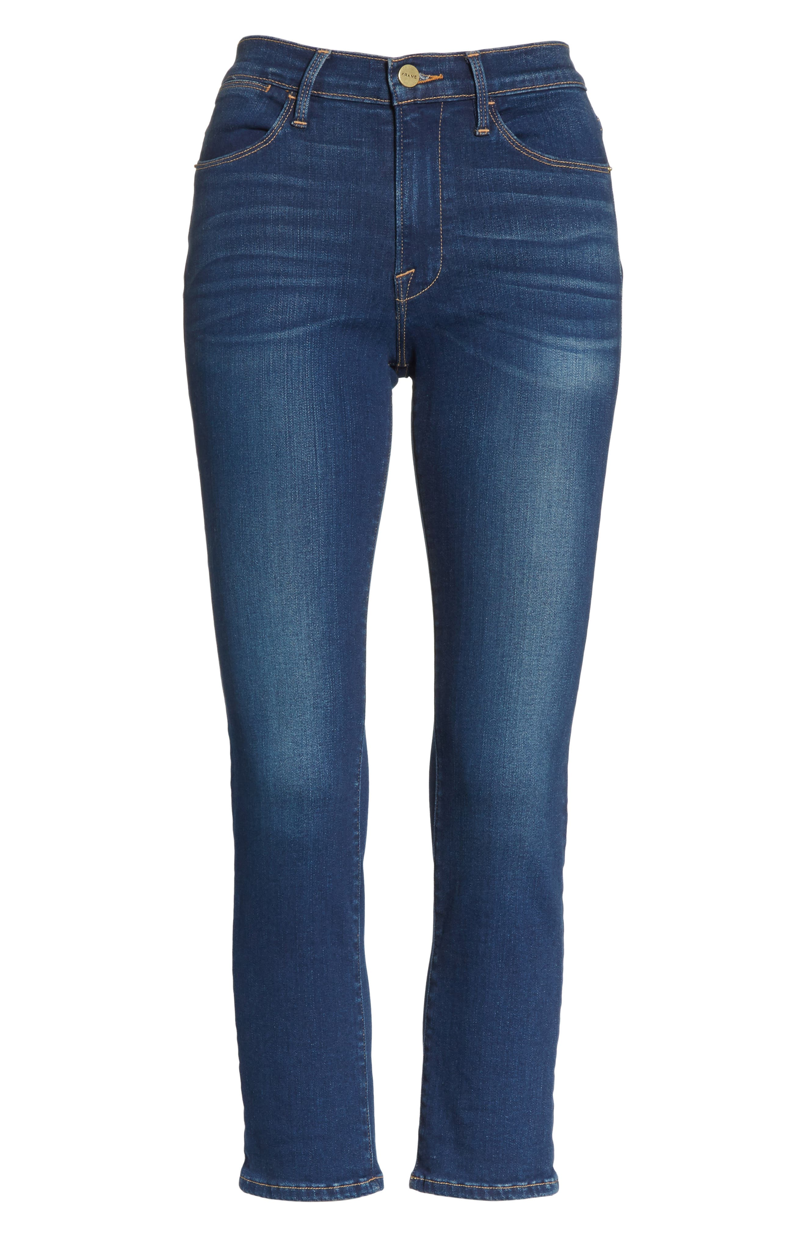 Le High Skinny Ankle Jeans,                             Alternate thumbnail 6, color,
