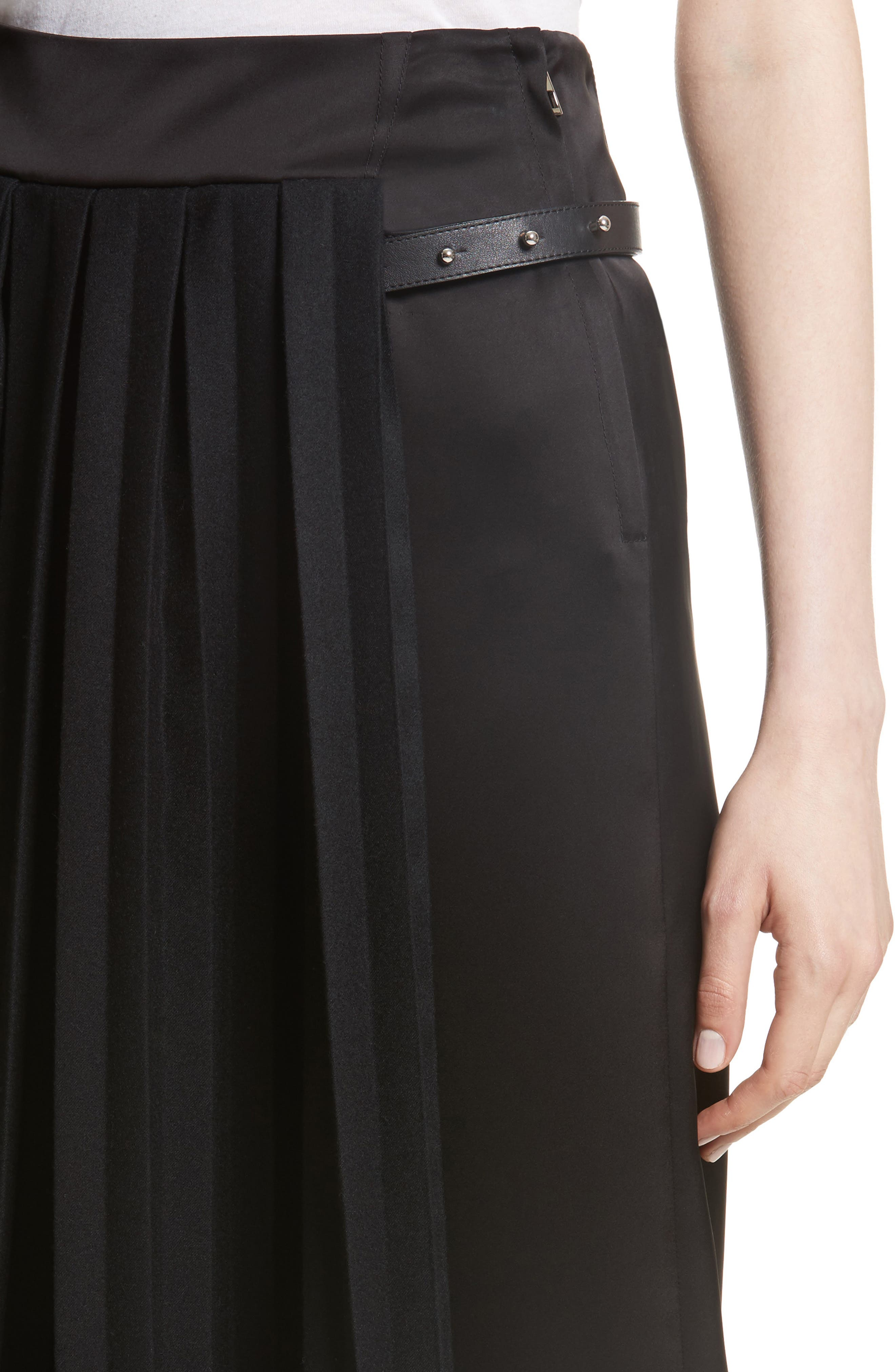 Pleated Panel Skirt,                             Alternate thumbnail 4, color,                             001
