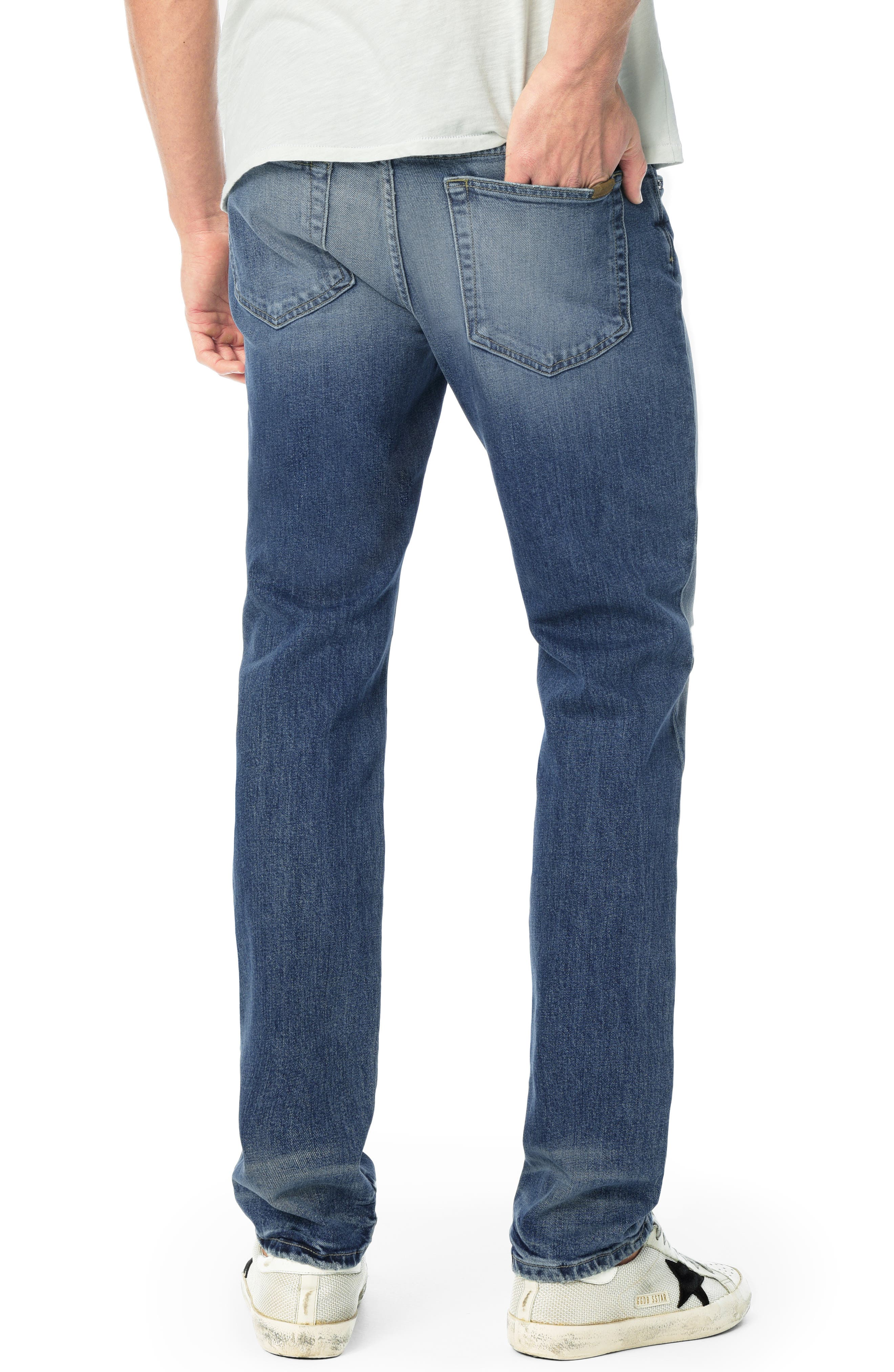 Brixton Slim Straight Leg Jeans,                             Alternate thumbnail 2, color,                             HARPO