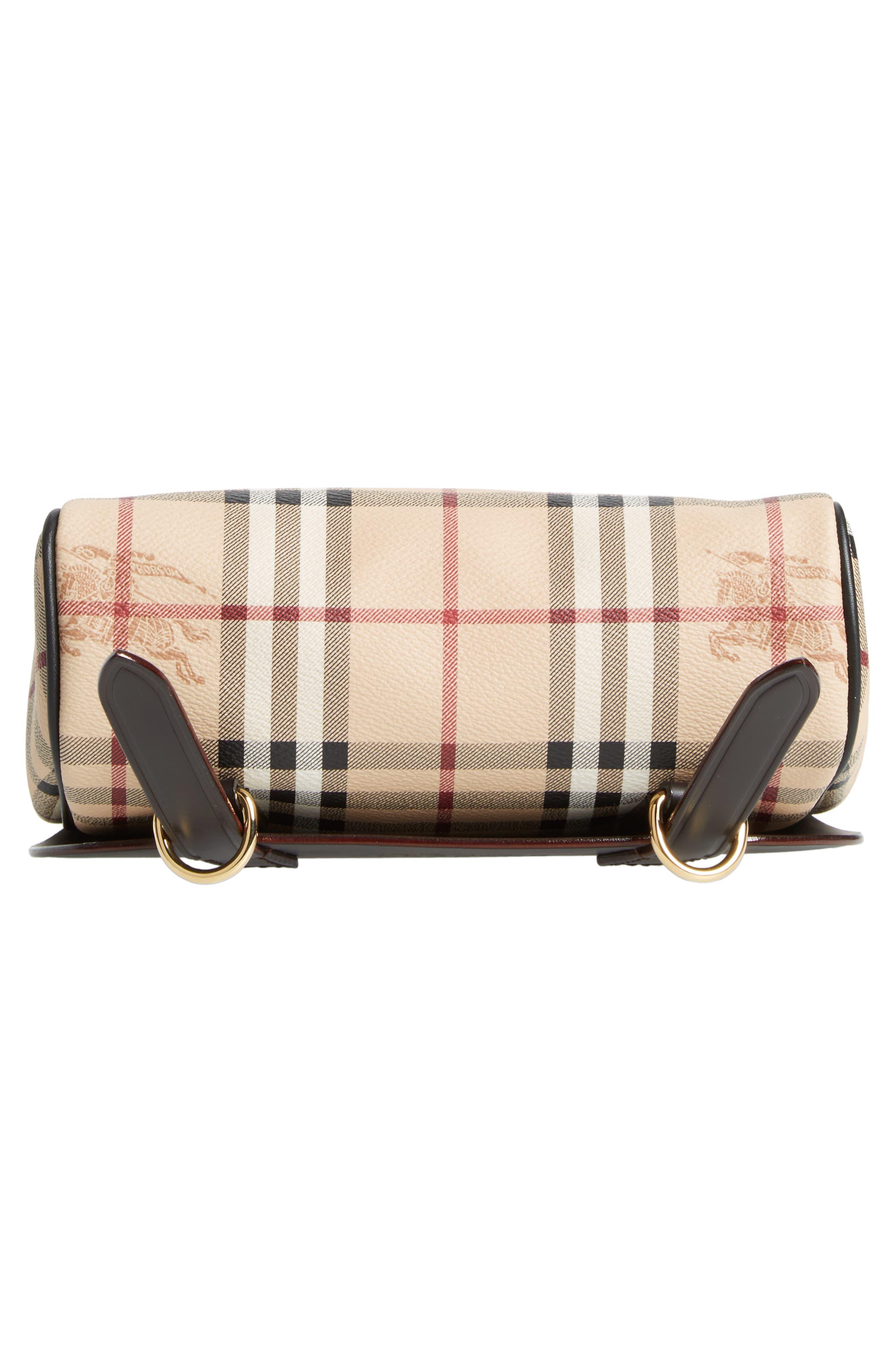Bridle Leather & Check Shoulder Bag,                             Alternate thumbnail 6, color,                             208