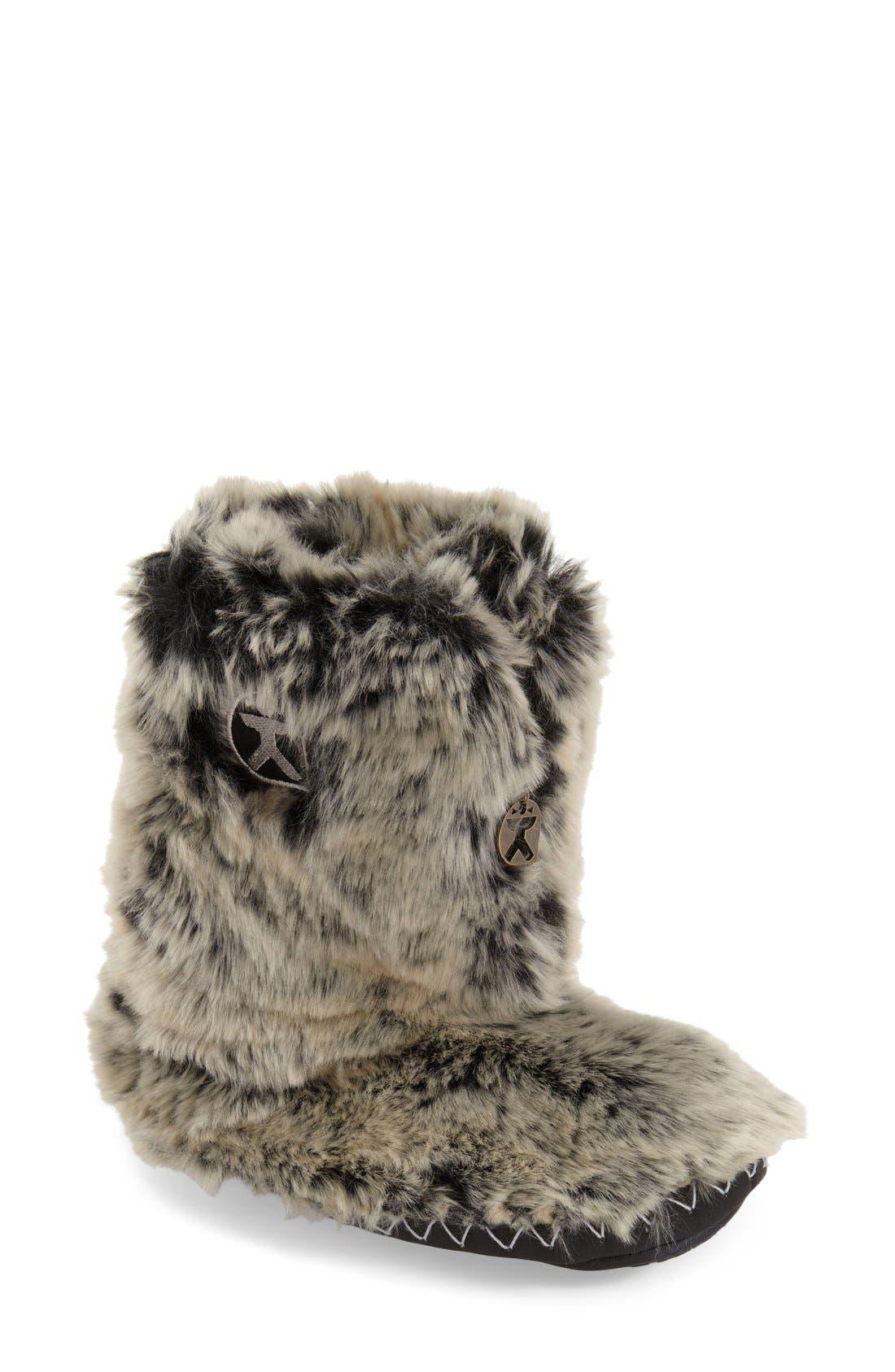 'Cole' Faux Fur Slipper Boot, Main, color, 005