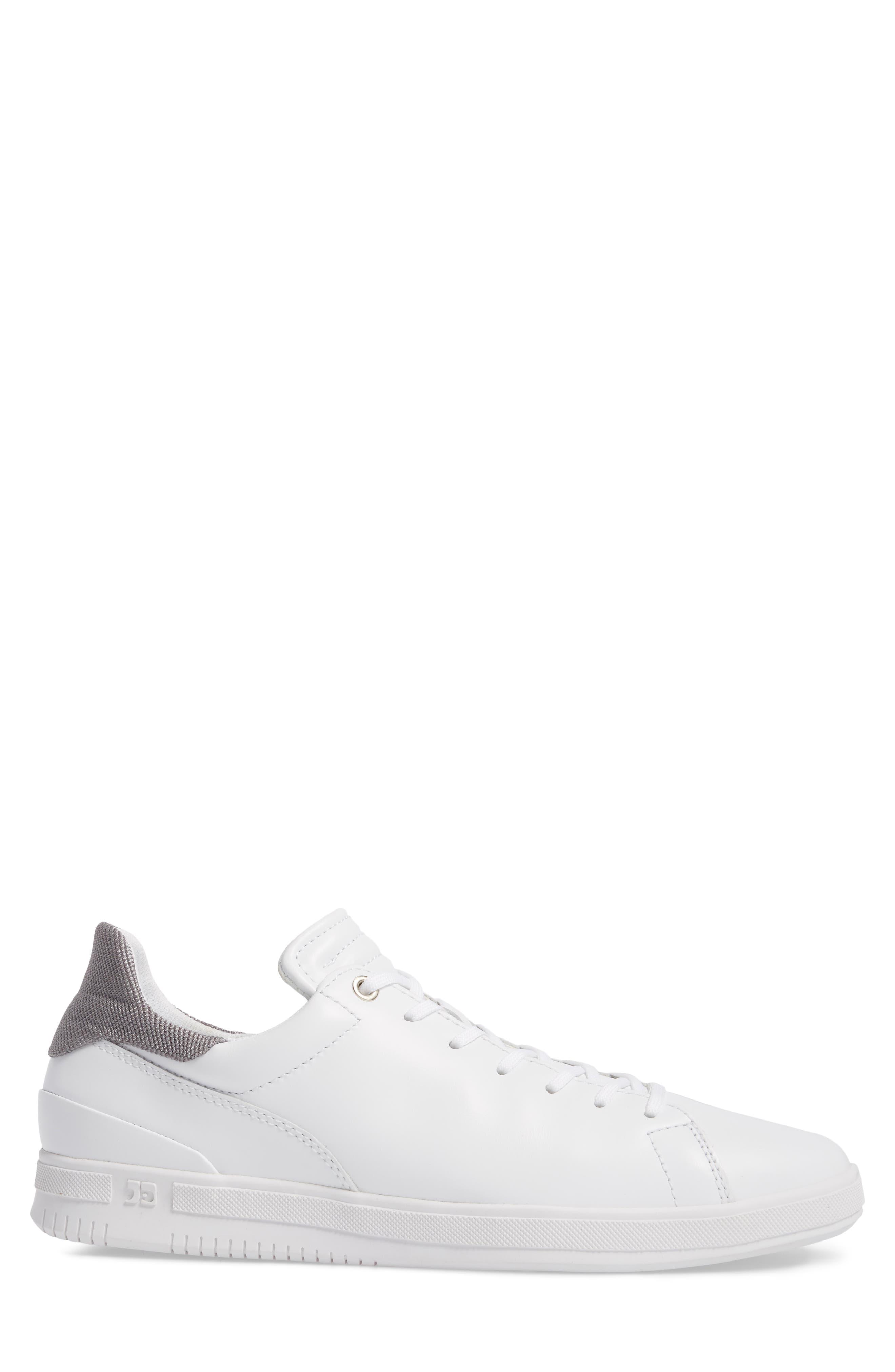 Joe Mama Sneaker,                             Alternate thumbnail 3, color,                             WHITE LEATHER
