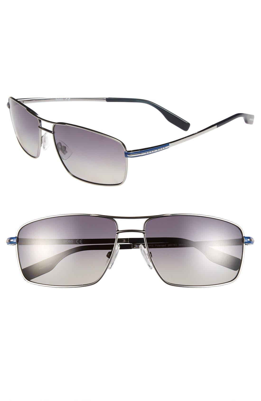59mm Polarized Navigator Sunglasses,                             Main thumbnail 2, color,
