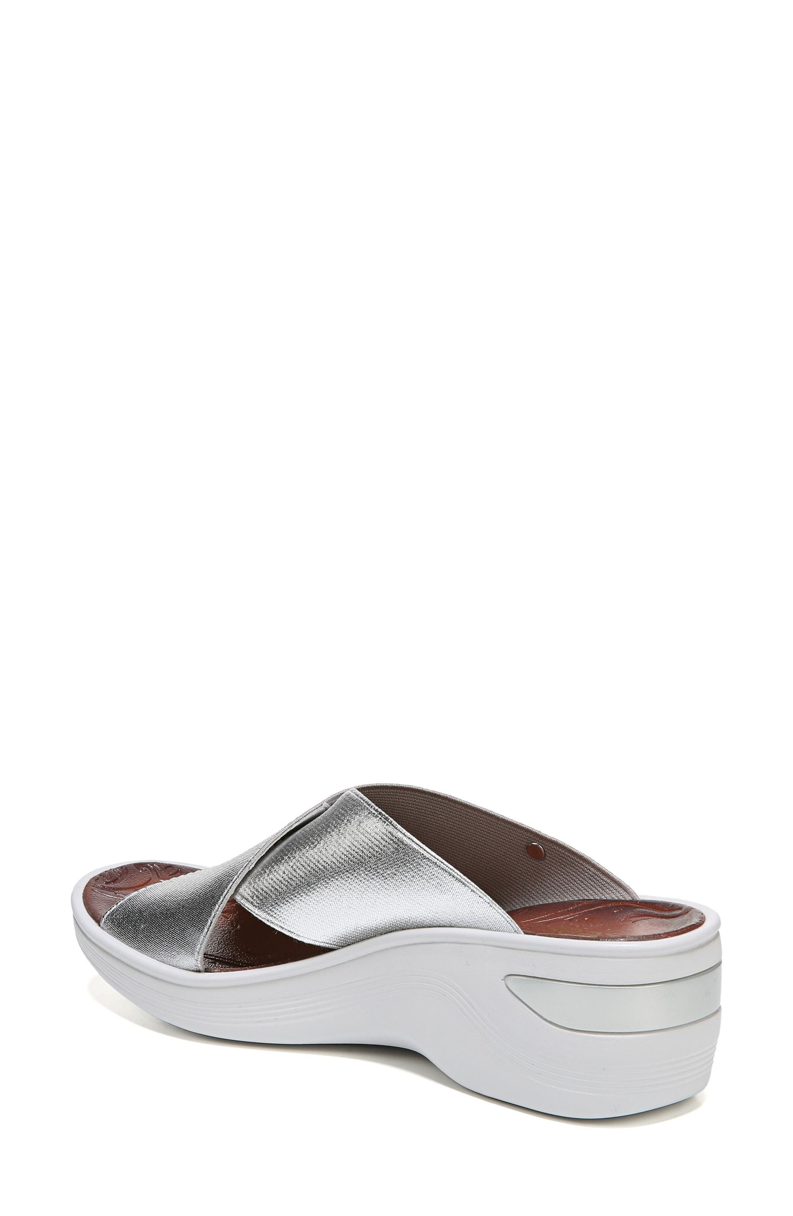 'Desire' Wedge Sandal,                             Alternate thumbnail 2, color,                             SILVER METALLIC