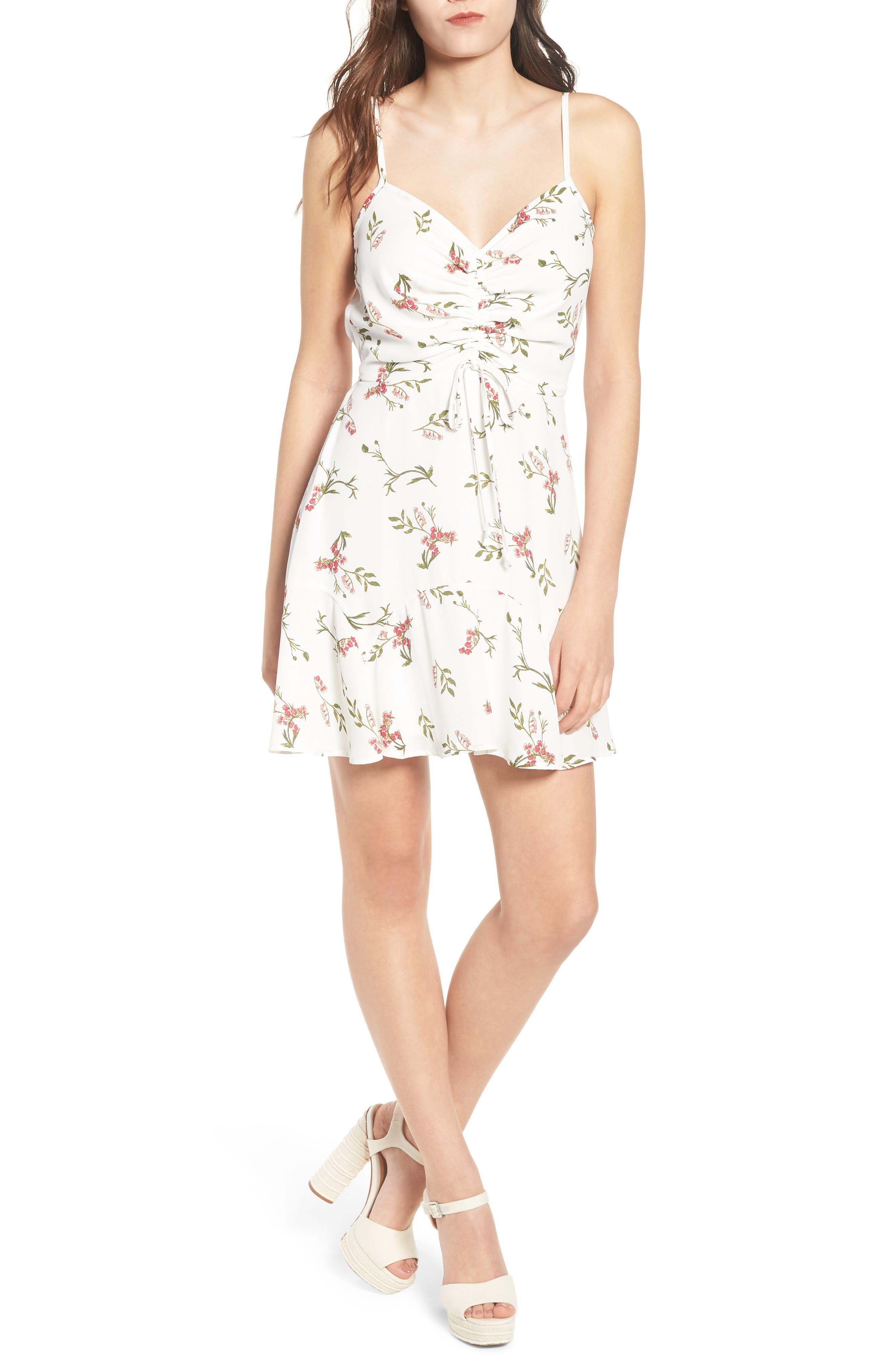 Cinch Front Minidress,                         Main,                         color, 900