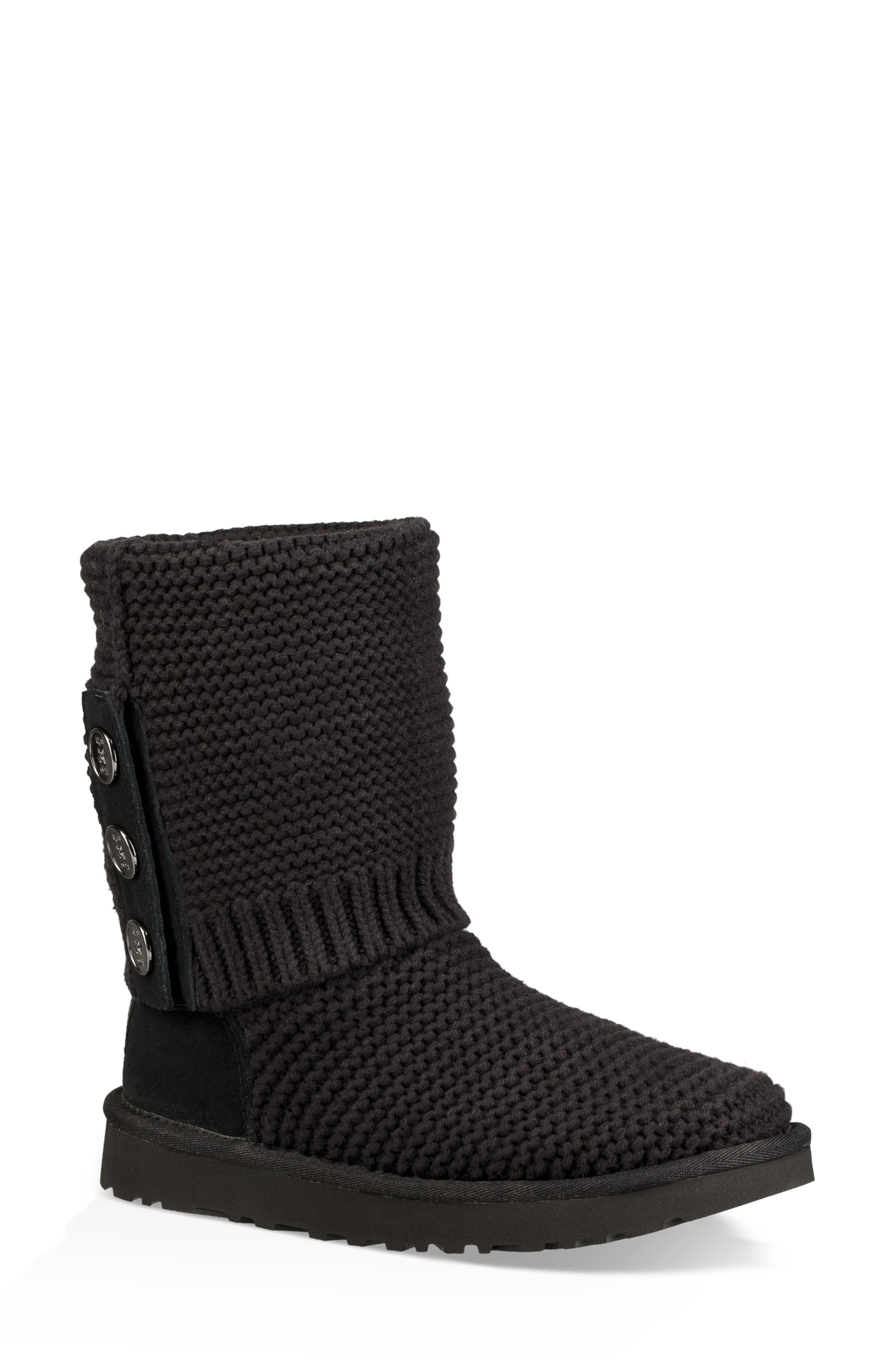UGG<SUP>®</SUP>,                             Purl Cardy Knit Boot,                             Alternate thumbnail 2, color,                             001