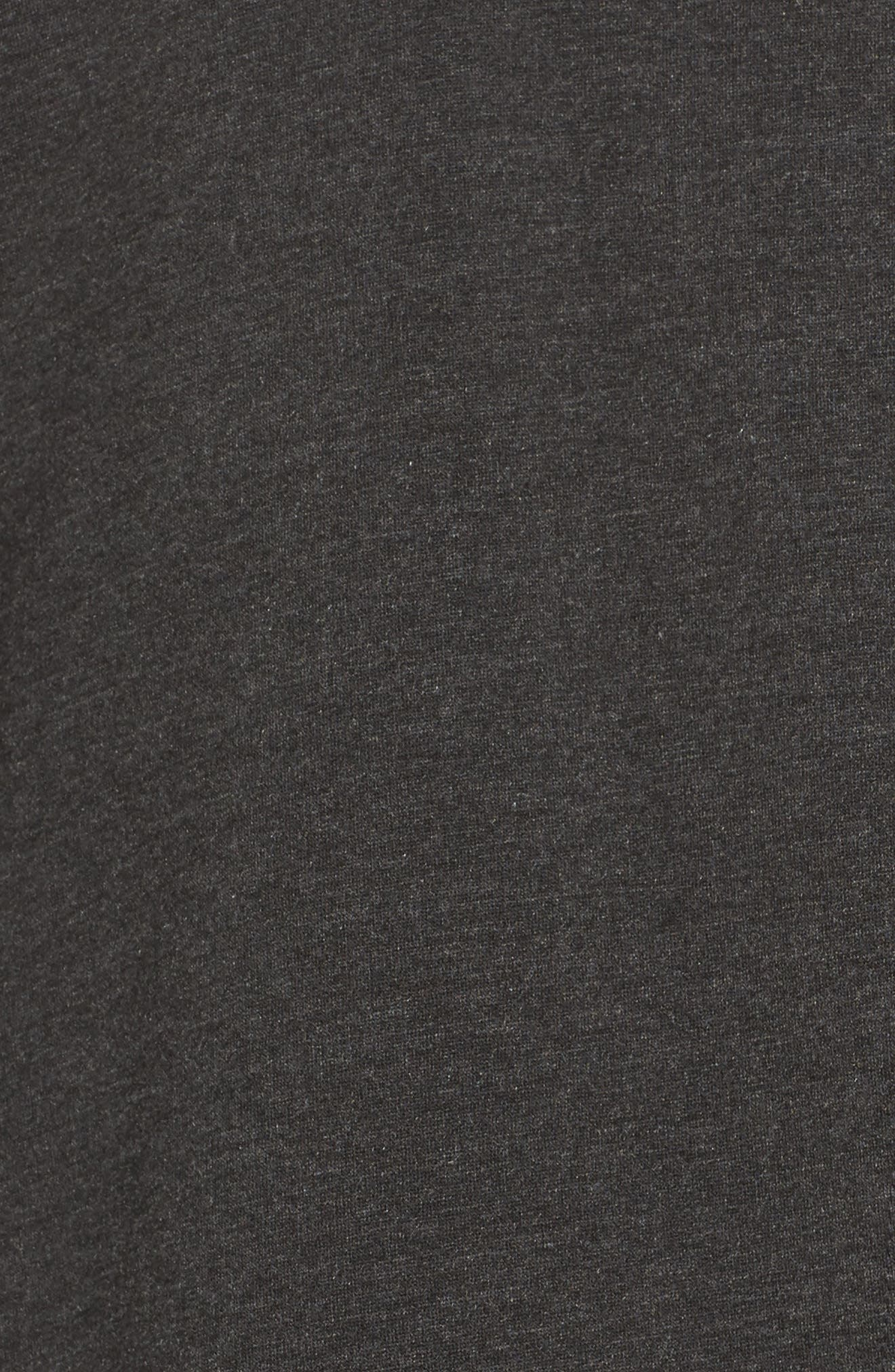 Love & Fleece Split-Back Hooded Cardigan,                             Alternate thumbnail 6, color,                             CHARCOAL HEATHER GREY