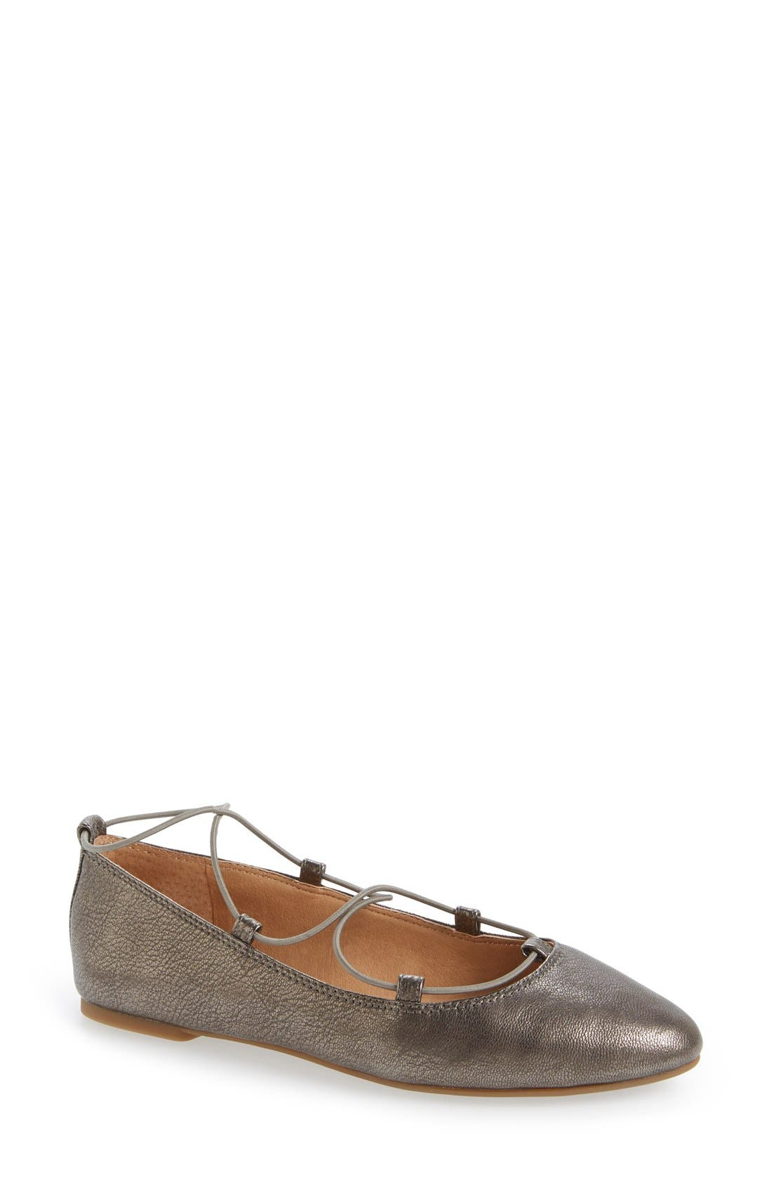 'Aviee' Lace-Up Flat,                             Main thumbnail 4, color,