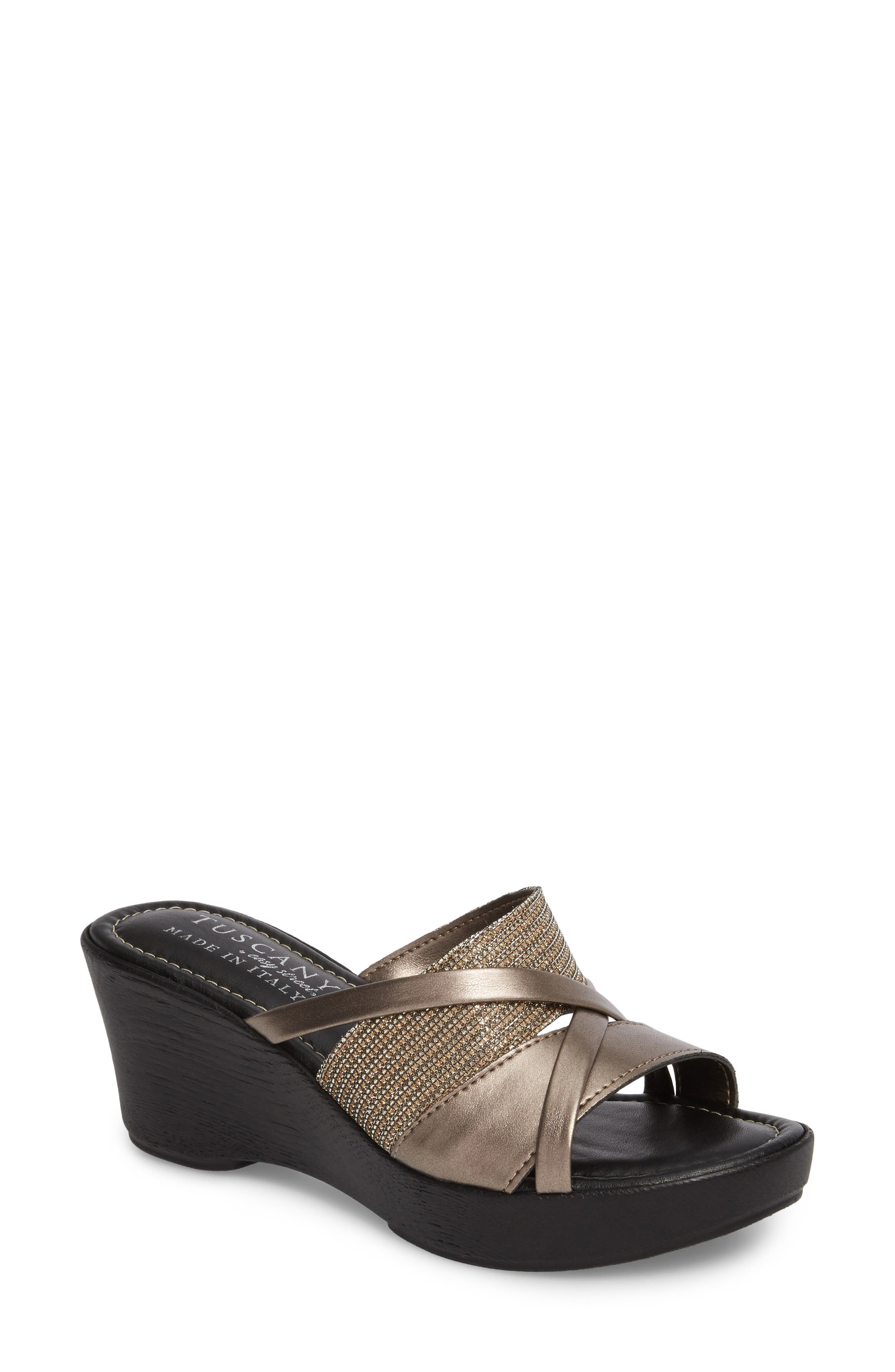 by East Street<sup>®</sup> Lucette Strappy Wedge Mule,                             Main thumbnail 5, color,