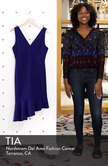 Asymmetrical Ruffle Hem Scuba Crepe Dress, sales video thumbnail