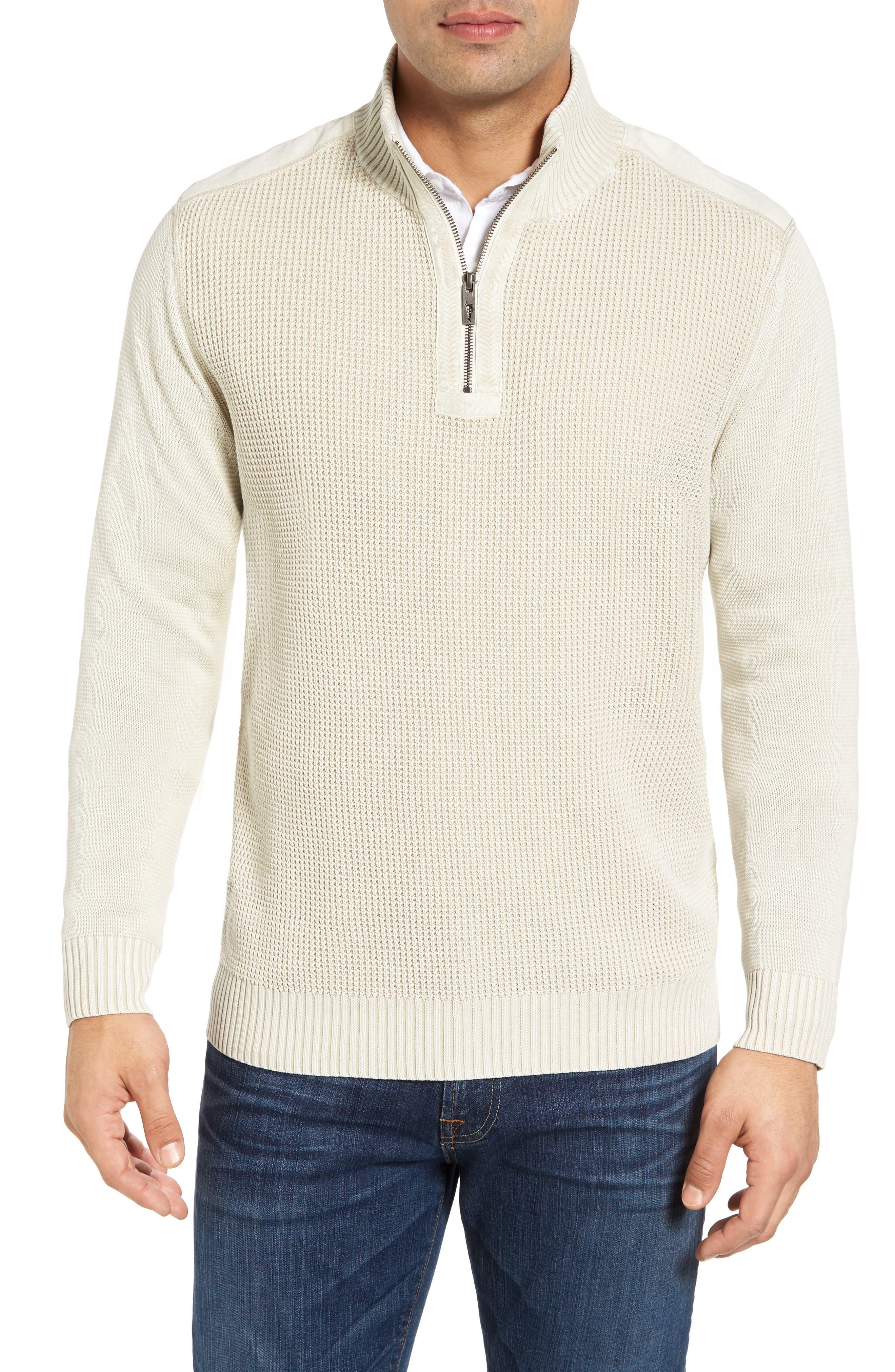 'Coastal Shores' Quarter Zip Sweater,                             Main thumbnail 6, color,