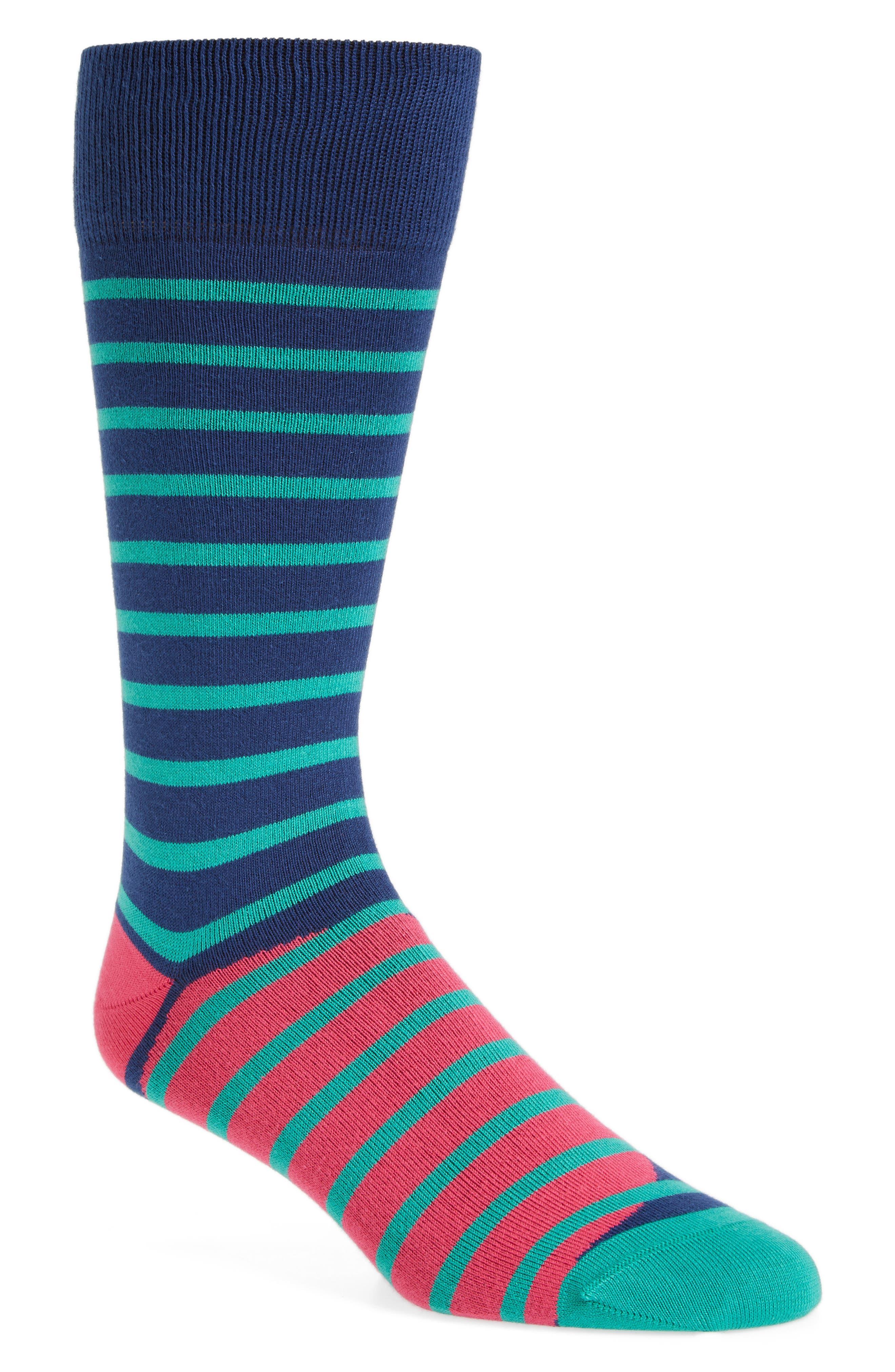 Ray Stripe Socks,                             Main thumbnail 1, color,