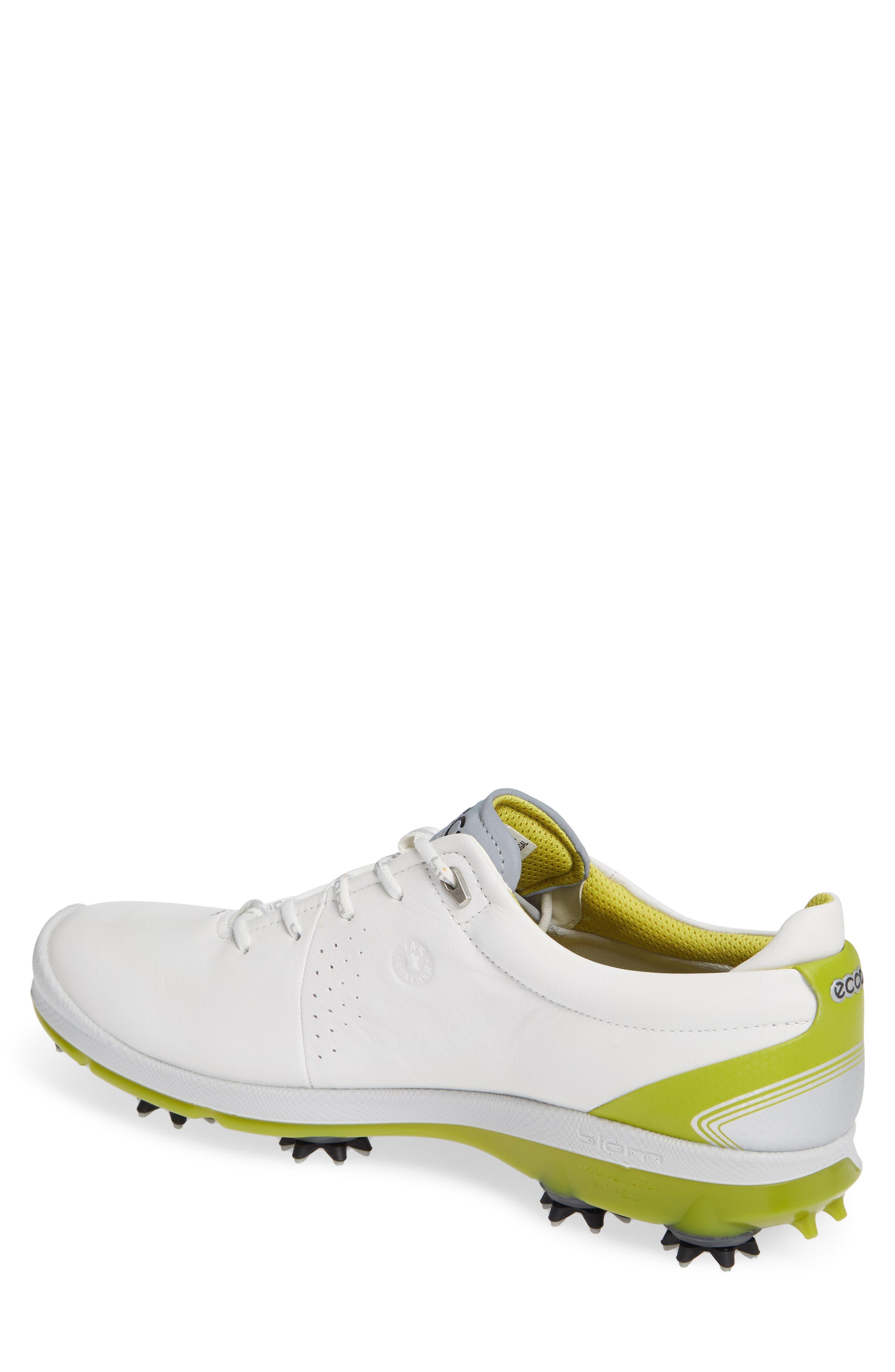 BIOM G 2 Free Gore-Tex<sup>®</sup> Golf Shoe,                             Alternate thumbnail 2, color,                             WHITE/ KIWI LEATHER