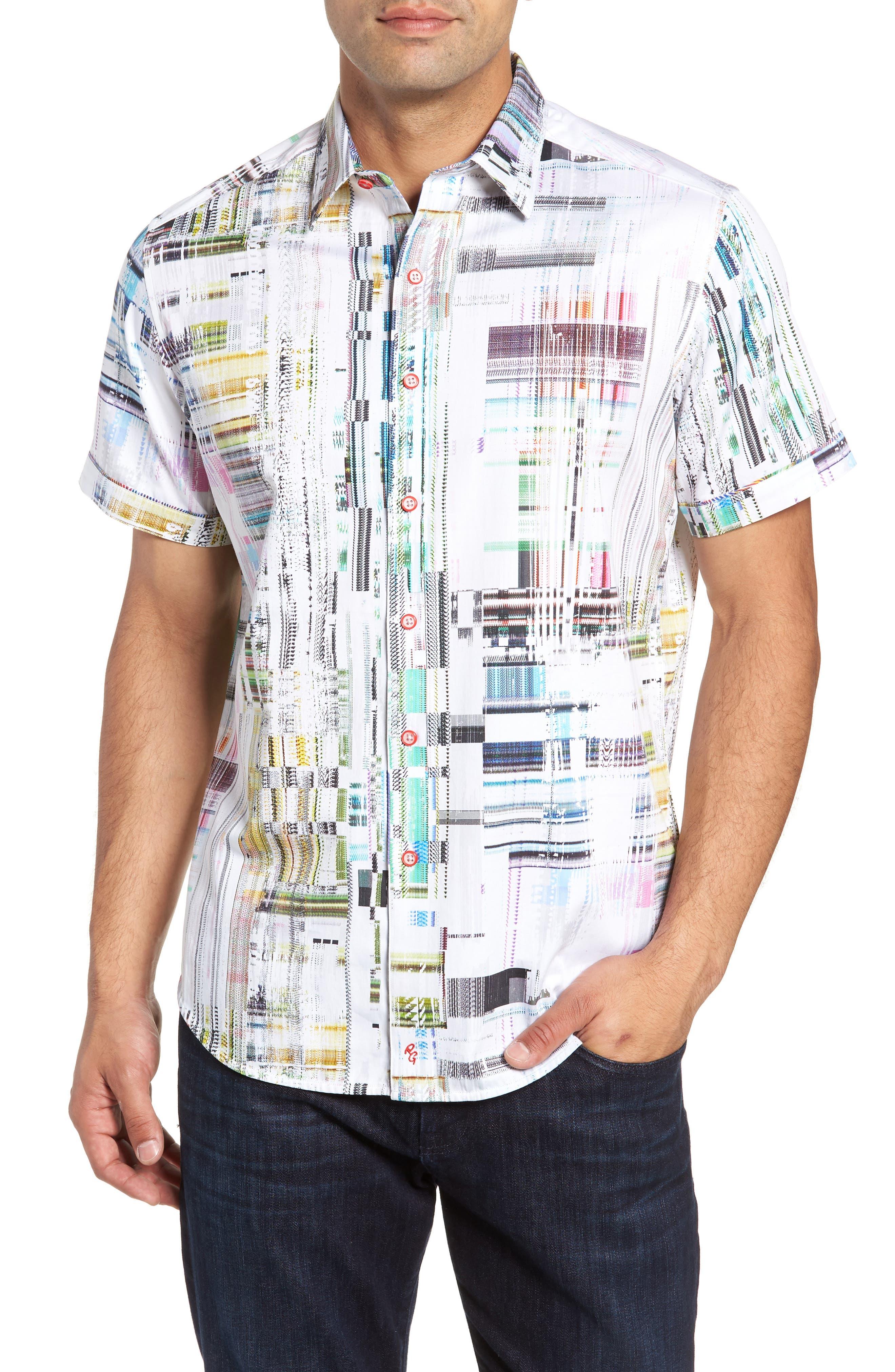 Paracels Classic Fit Sport Shirt,                             Main thumbnail 1, color,                             MULTI