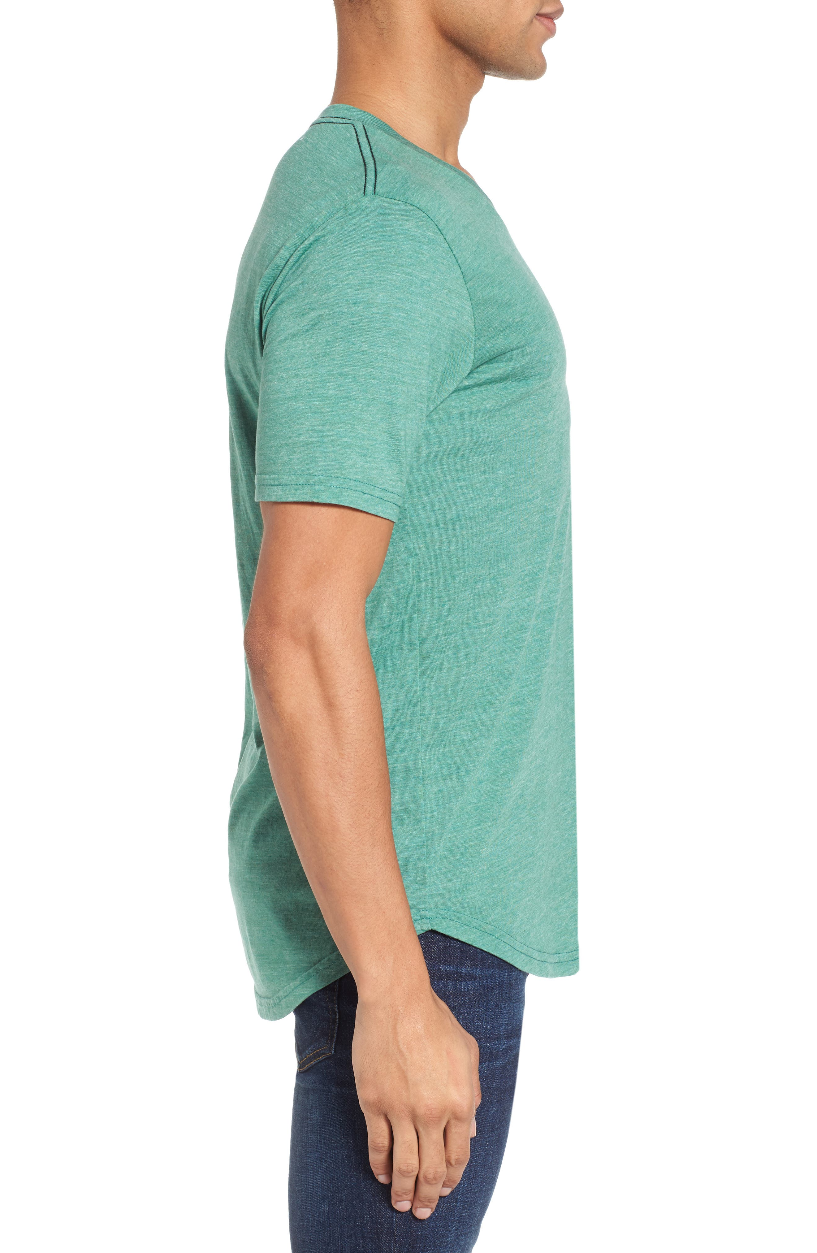 Scallop Triblend V-Neck T-Shirt,                             Alternate thumbnail 52, color,