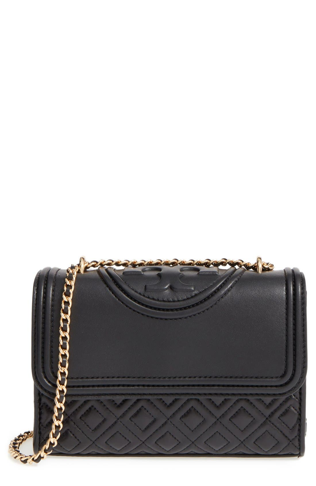 'Small Fleming' Quilted Leather Shoulder Bag,                         Main,                         color,